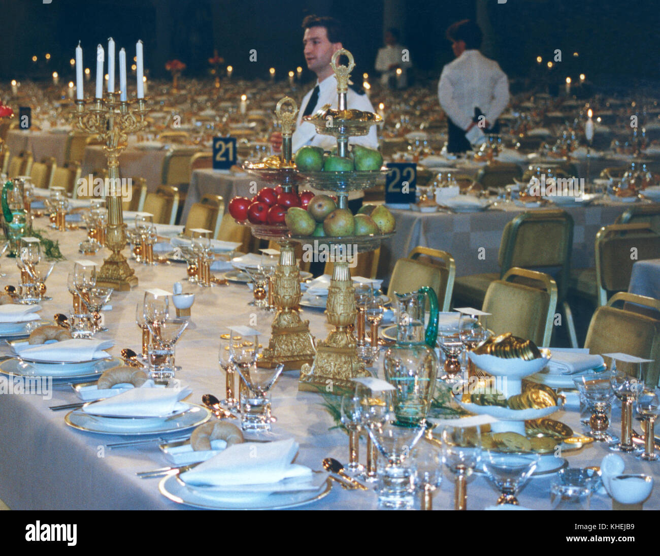 NOBEL DINNER,the tables appeared for the guests 2009 Stock Photo