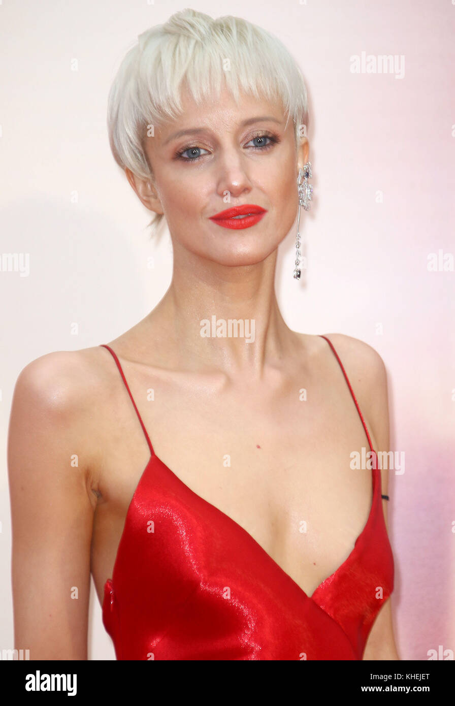 Oct 07, 2017 - Andrea Riseborough attending 61st BFI London Film Festival - 'Battle of the Sexes' European - Stock Image