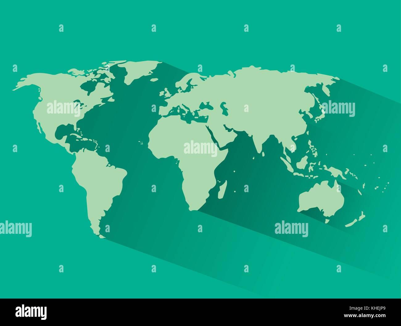 World map silhouette Stock Vector Art & Illustration, Vector Image ...