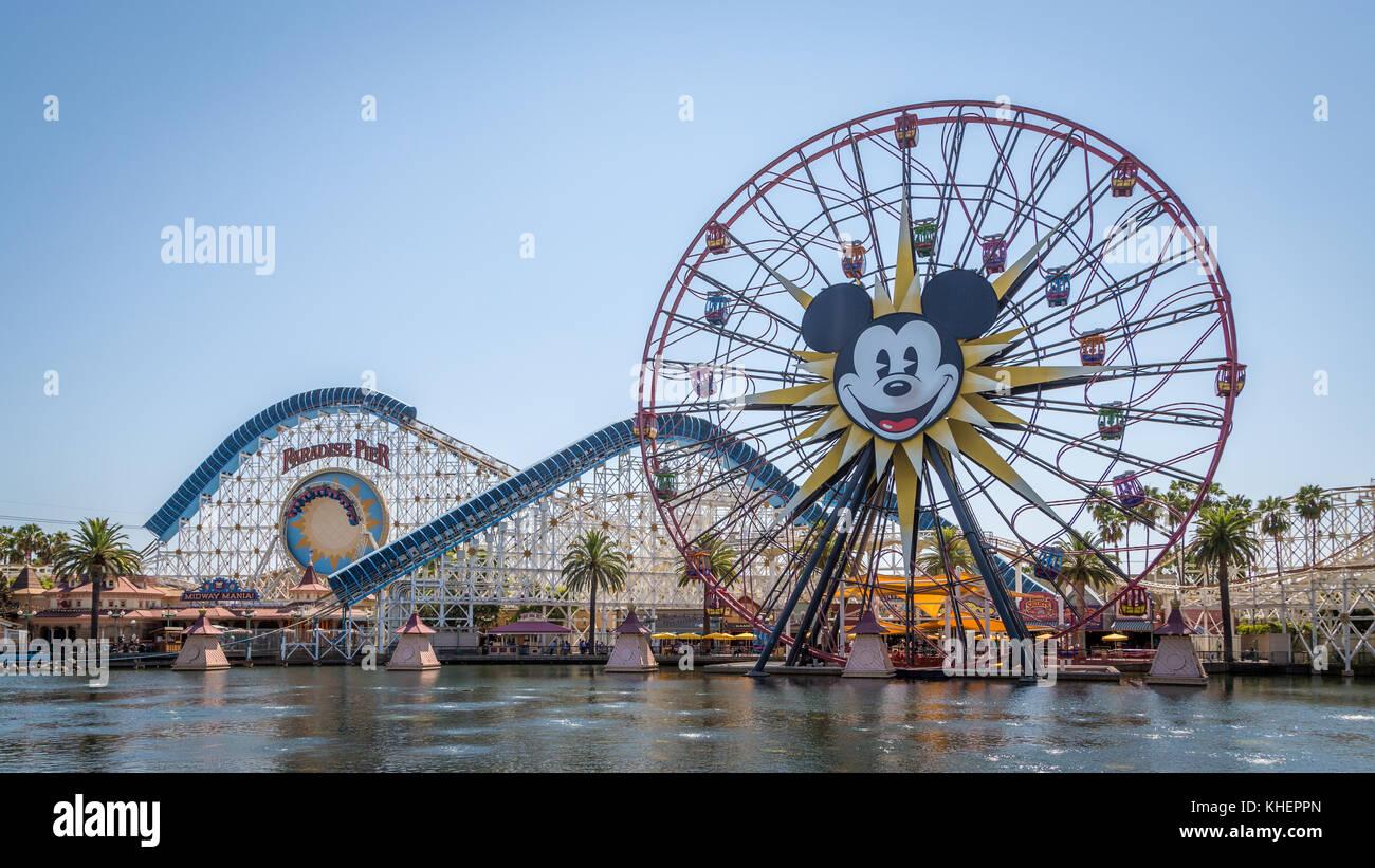 Disneyland California Roller Coaster Stock Photos