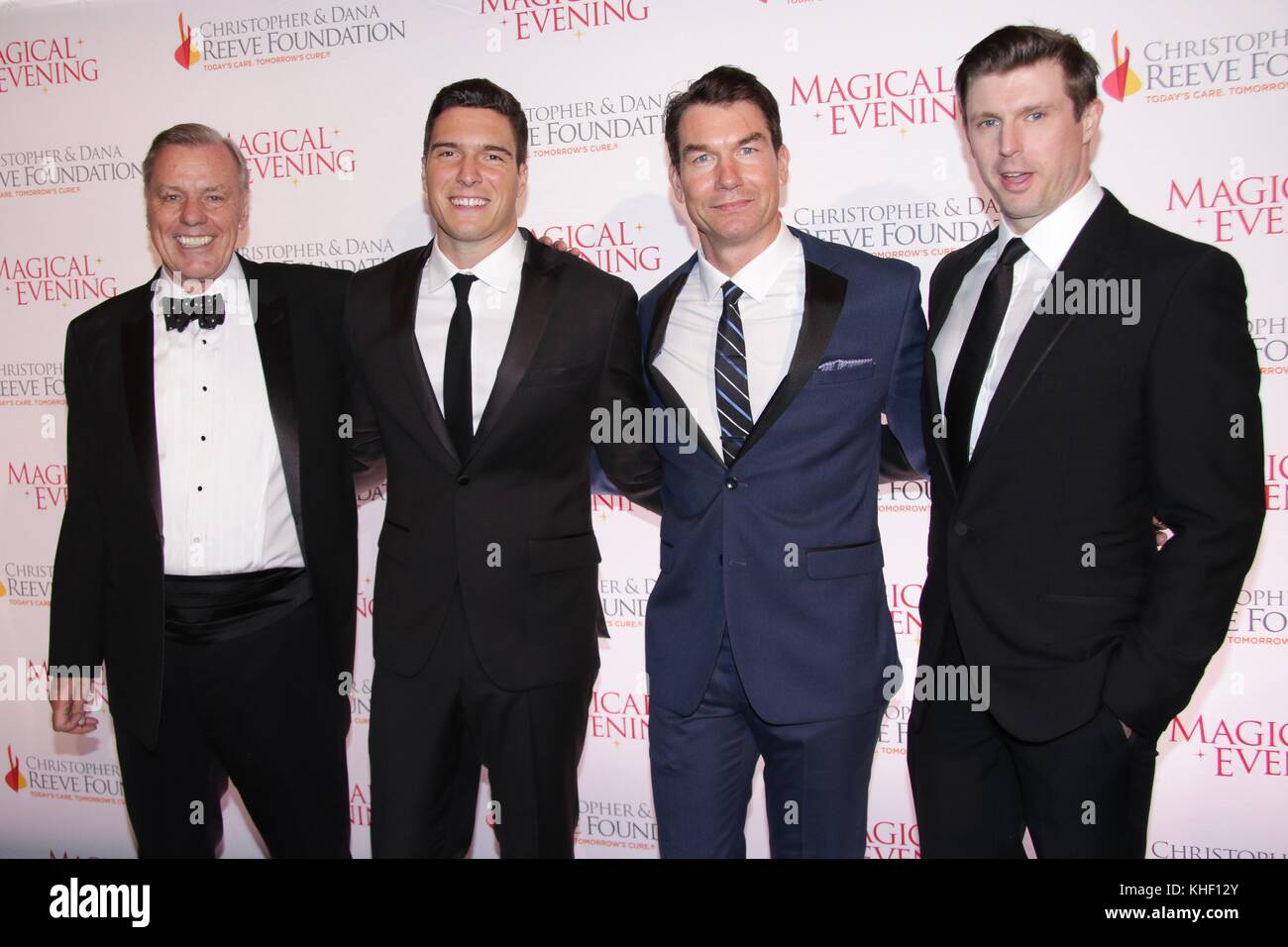 New York, NY, USA. 16th Nov, 2017. Peter Wilderotter, William Reeve, Jerry OConnell and Matthew Reeve at The Christopher - Stock Image
