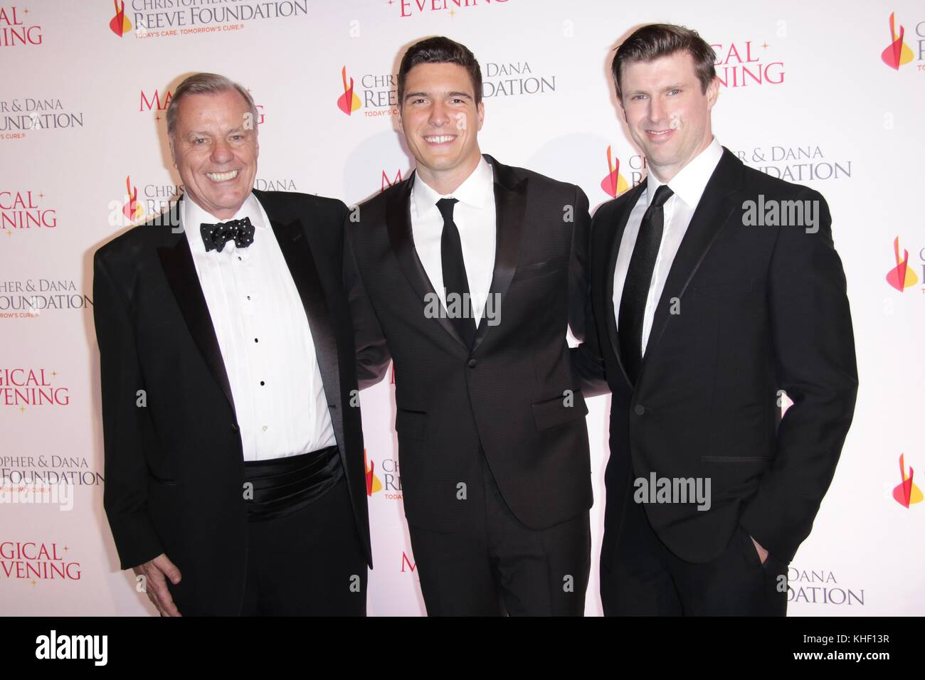 New York, NY, USA. 16th Nov, 2017. Peter Wilderotter, Matthew Reeve, William Reeve at The Christopher & Dana - Stock Image
