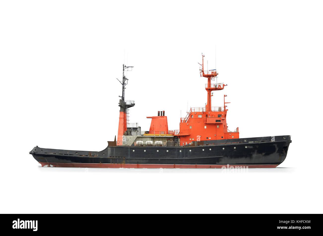 Marine vehicle designed to operate at sea. - Stock Image