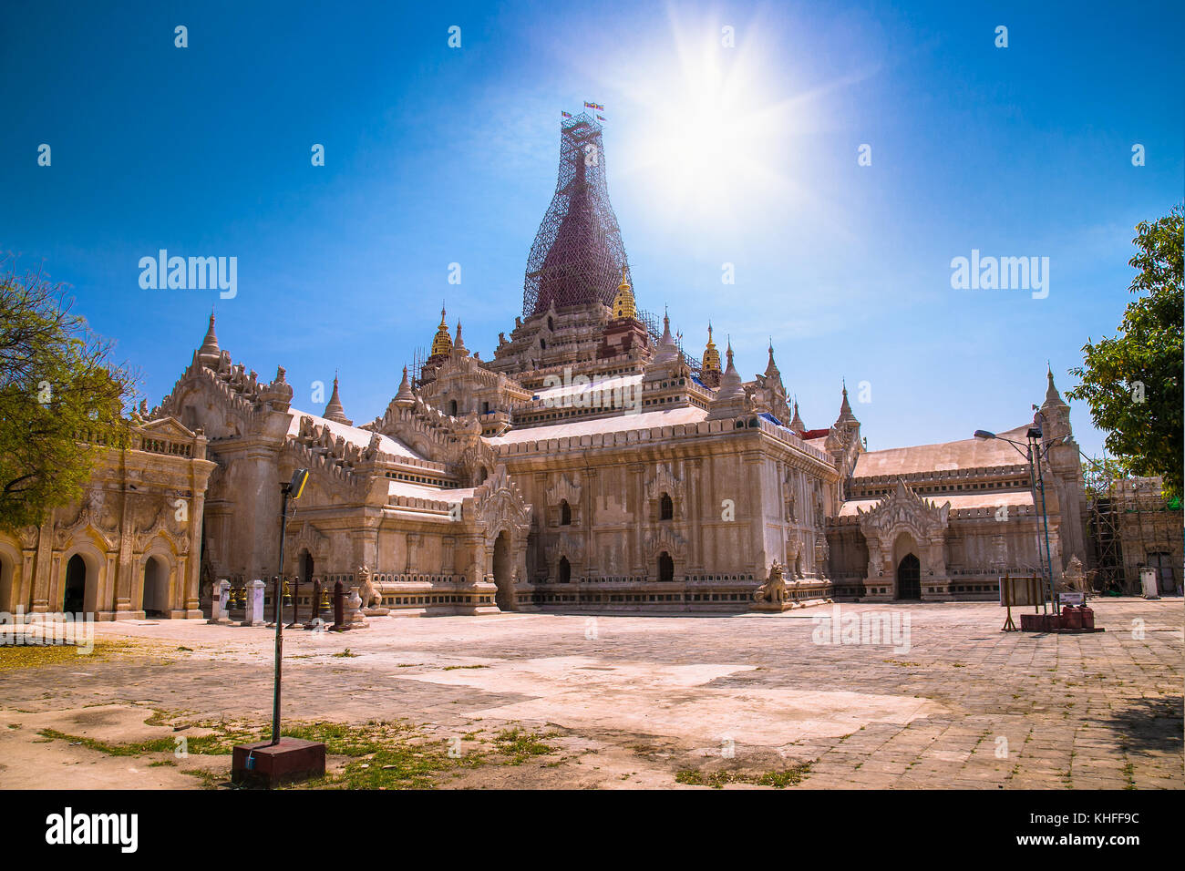 Ananda temple in Old Bagan, Myanmar. (Burma) - Stock Image