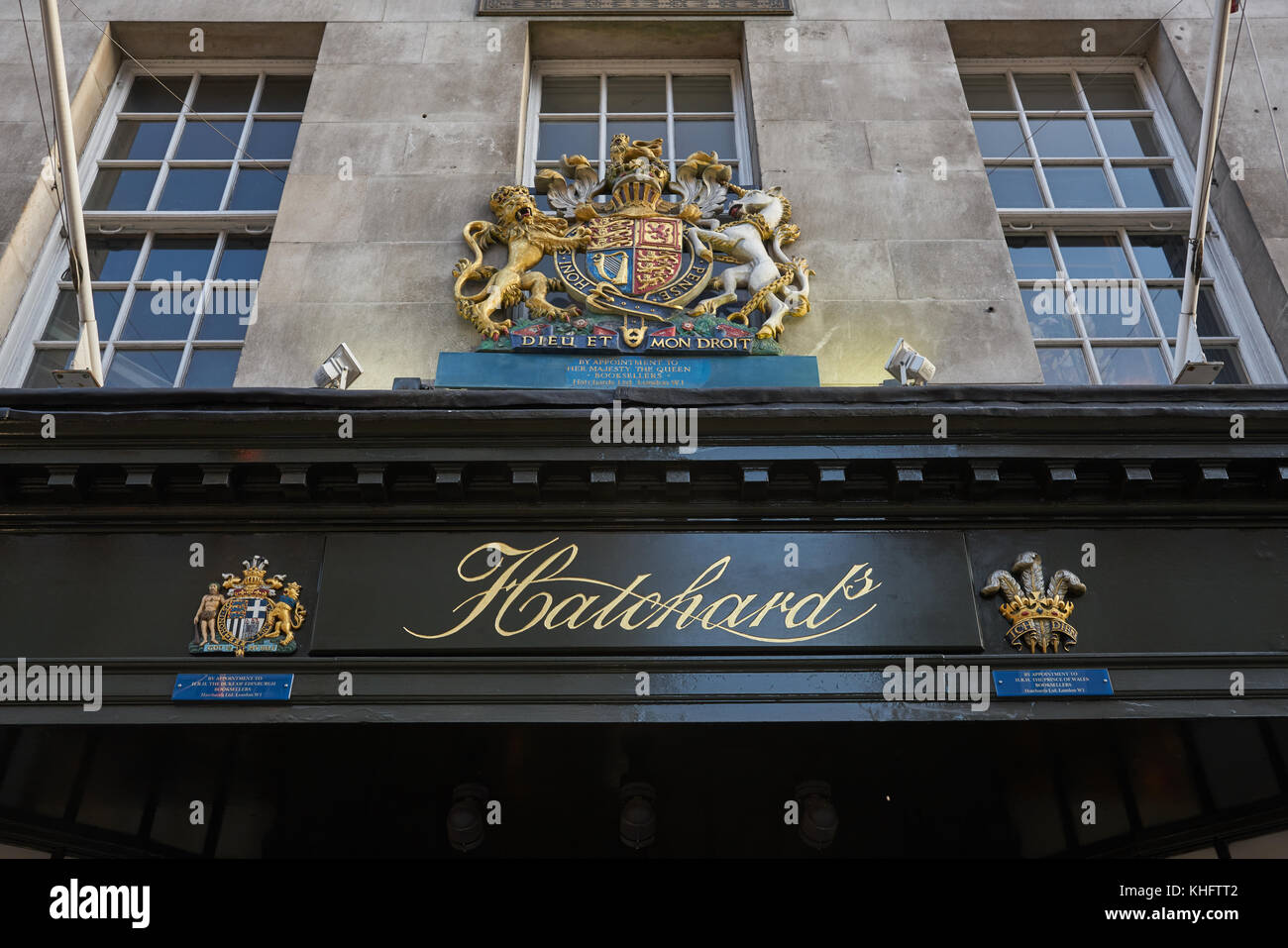 hatchard's book shop london - Stock Image