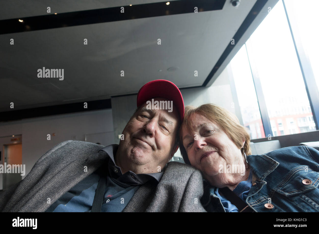 Infamous photographer Steve Skjold celebrates his 50th year of marriage with his bride Mary at the Guthrie Theater. - Stock Image