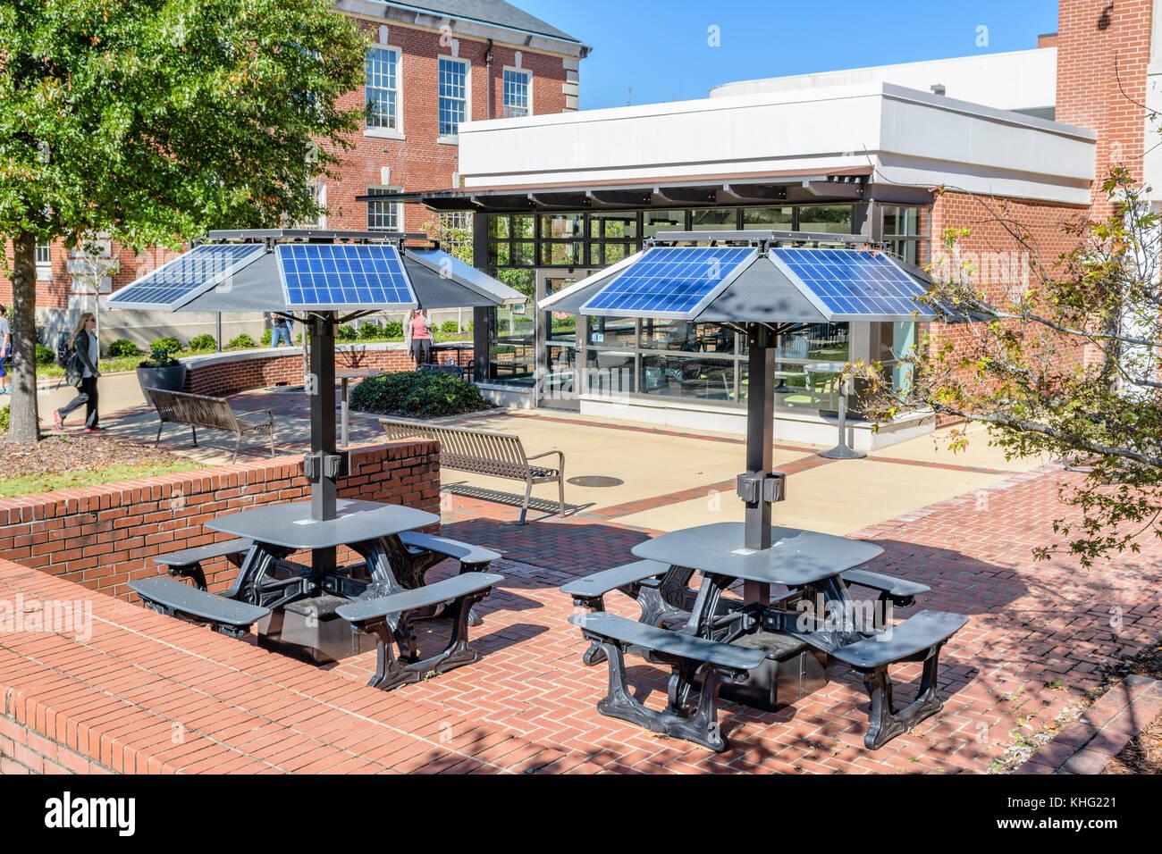 Solar Charging Station Stock Photos Solar Charging Station Stock - Solar picnic table