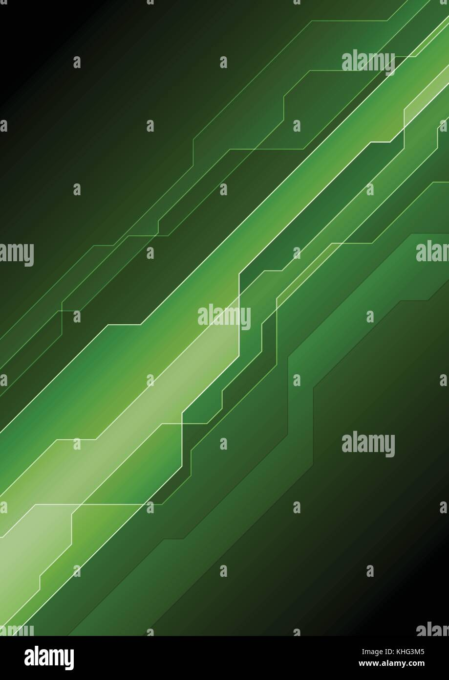Dark Green Abstract Tech Background Vector Design Stock