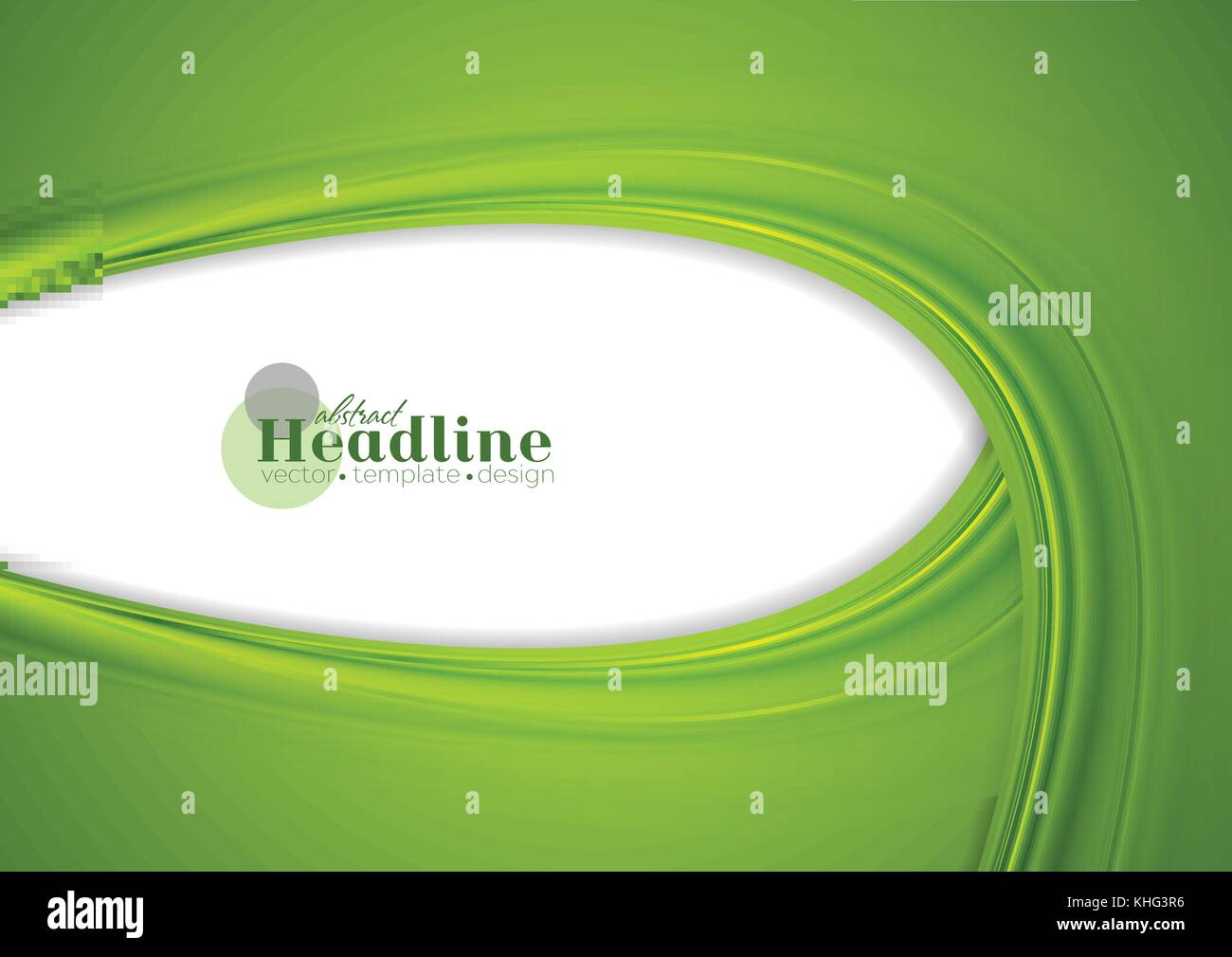 Curved Lines In Art : Green abstract smooth corporate waves background vector curved
