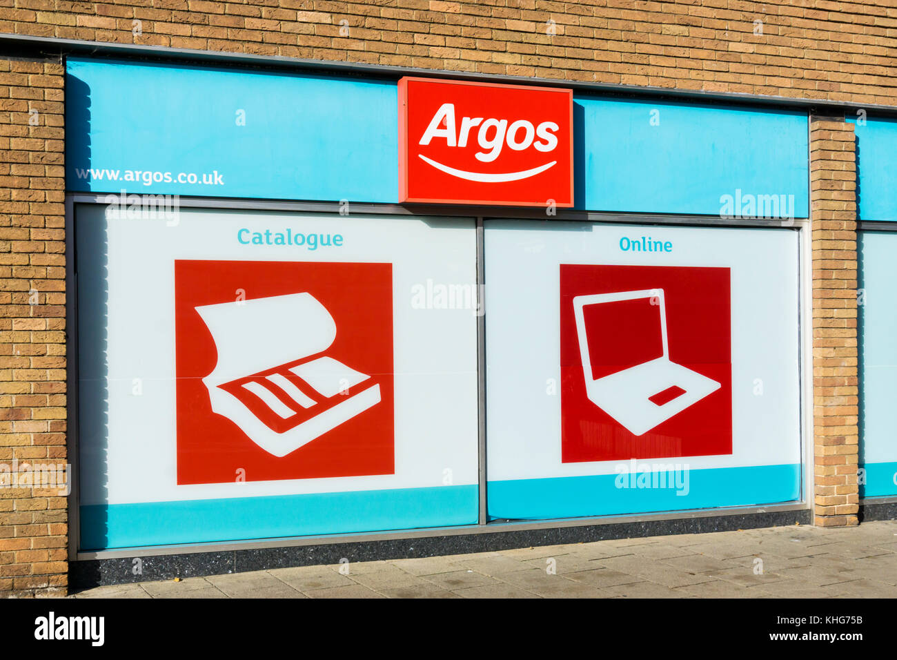 Options of catalogue or online shopping at an Argos shop