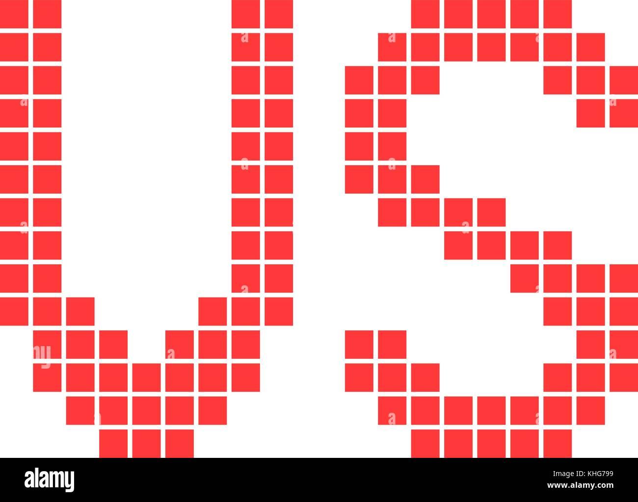 Red Versus Sign In Pixel Art Stock Vector Art Illustration