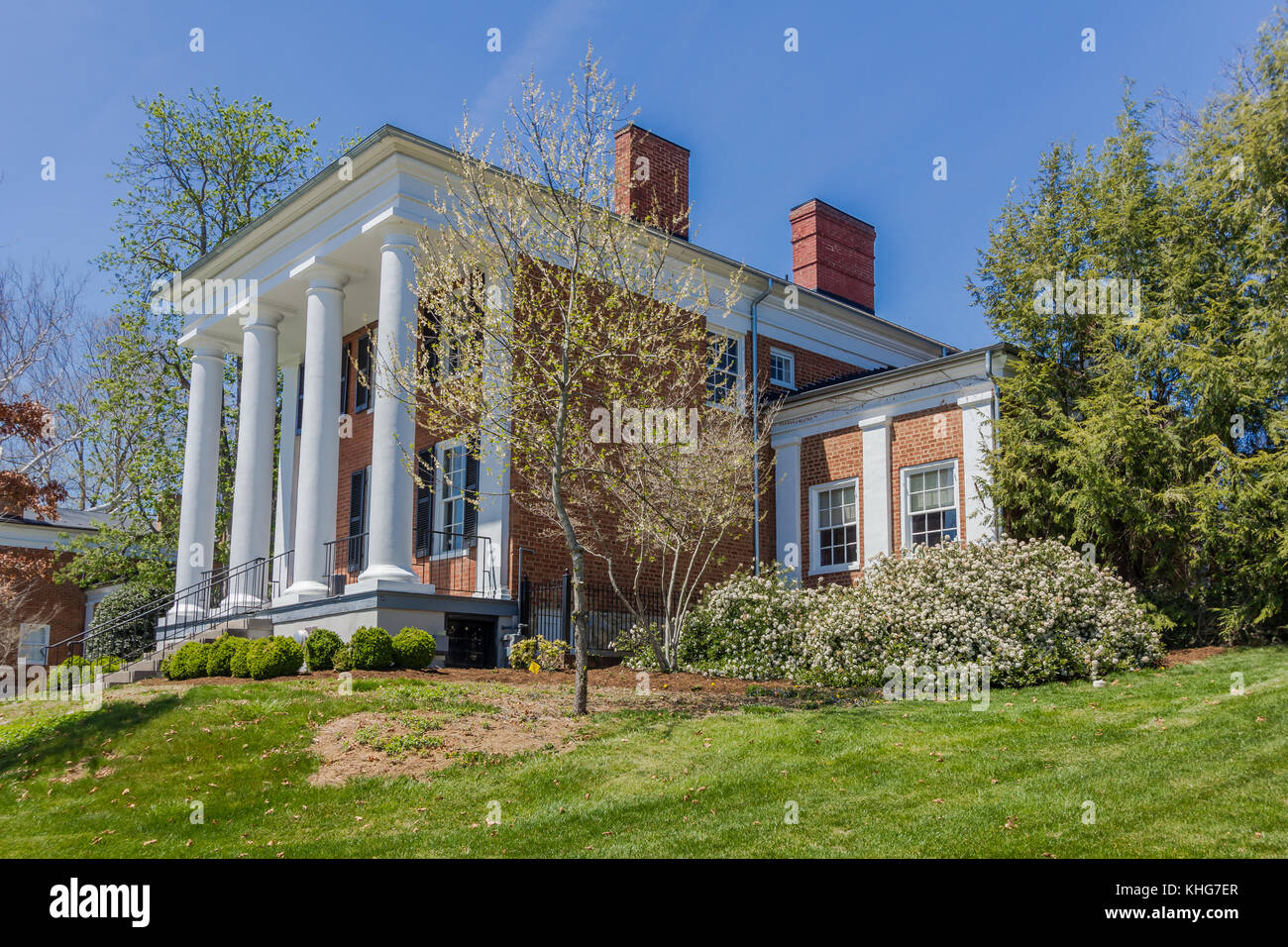 Gilliam Admissions House at Washington and Lee University in Lexington, Virginia. - Stock Image