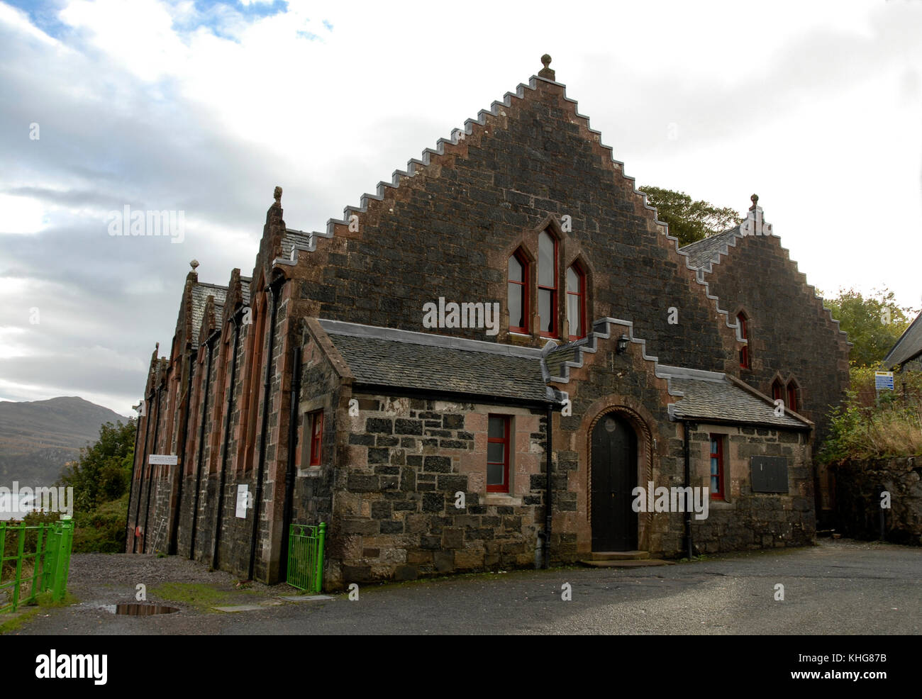 Skye's Gathering hall s used for civic functions by the local town council in Porrtree on the Isle of Sky in - Stock Image