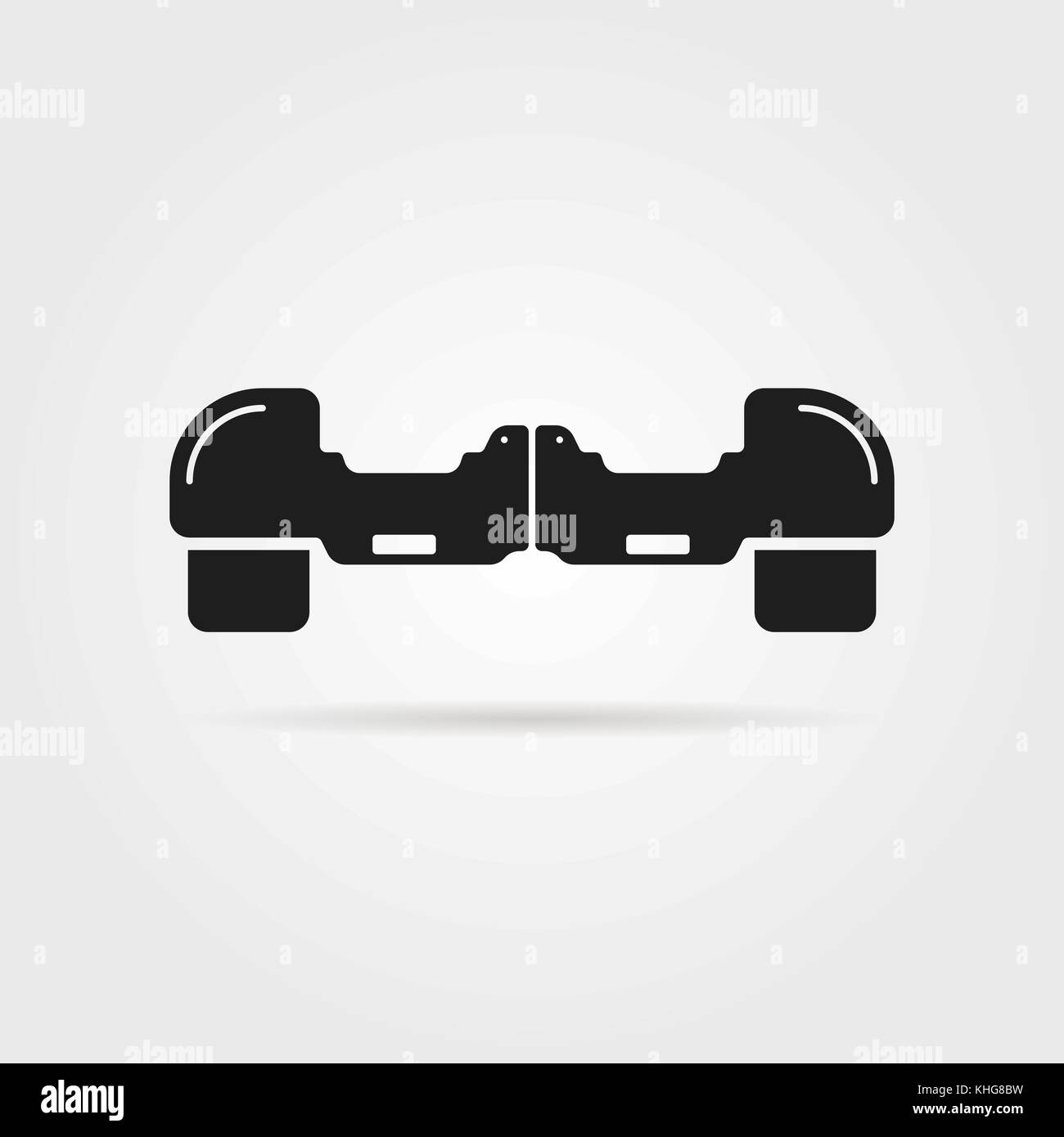 simple hoverboard icon with shadow - Stock Image