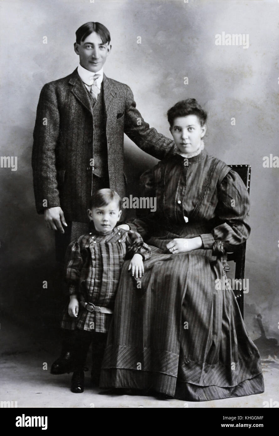 Family snaps over the ages covering 1860's through 1970's.  A collective look at the progression of the - Stock Image