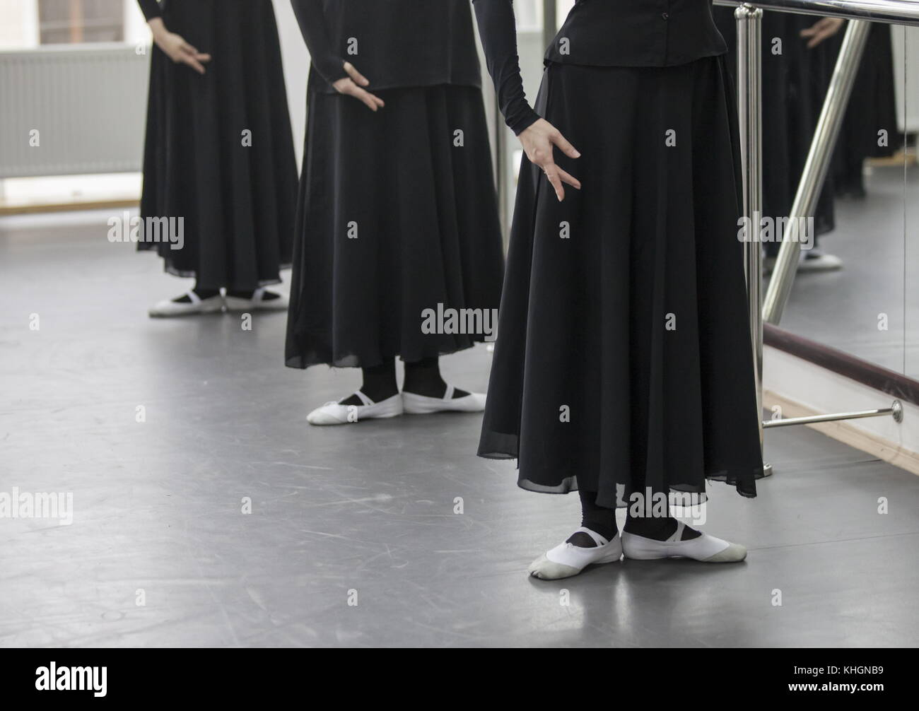 "Grozny, Russia. 16th Nov, 2017. Dancers of the Chechen ensemble Vainakh rehearse a new programme titled ""From Grozny Stock Photo"