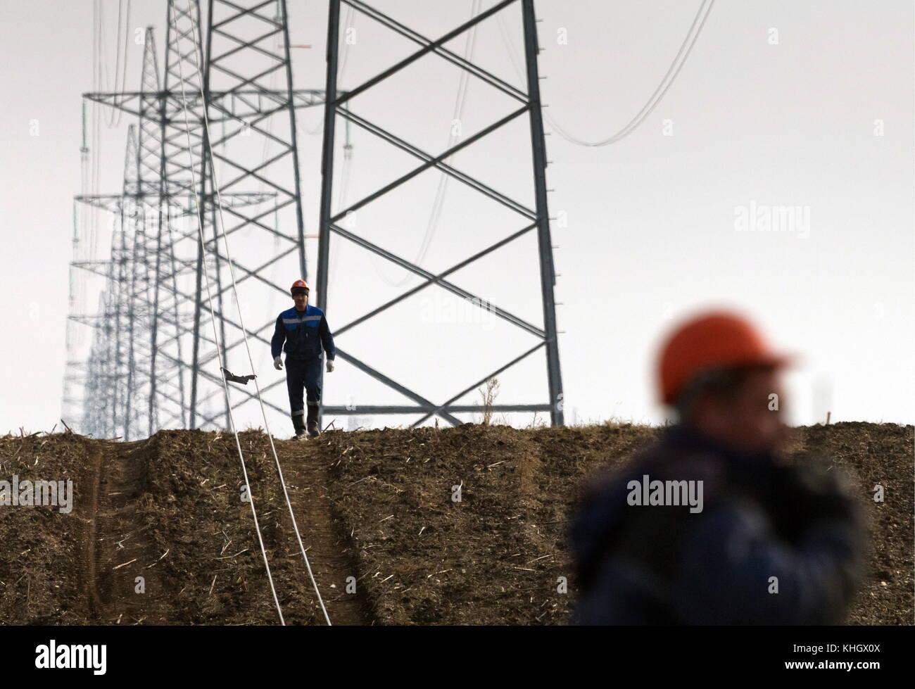 Crimea, Russia. 17th Nov, 2017. A 330kV high-voltage direct current ...