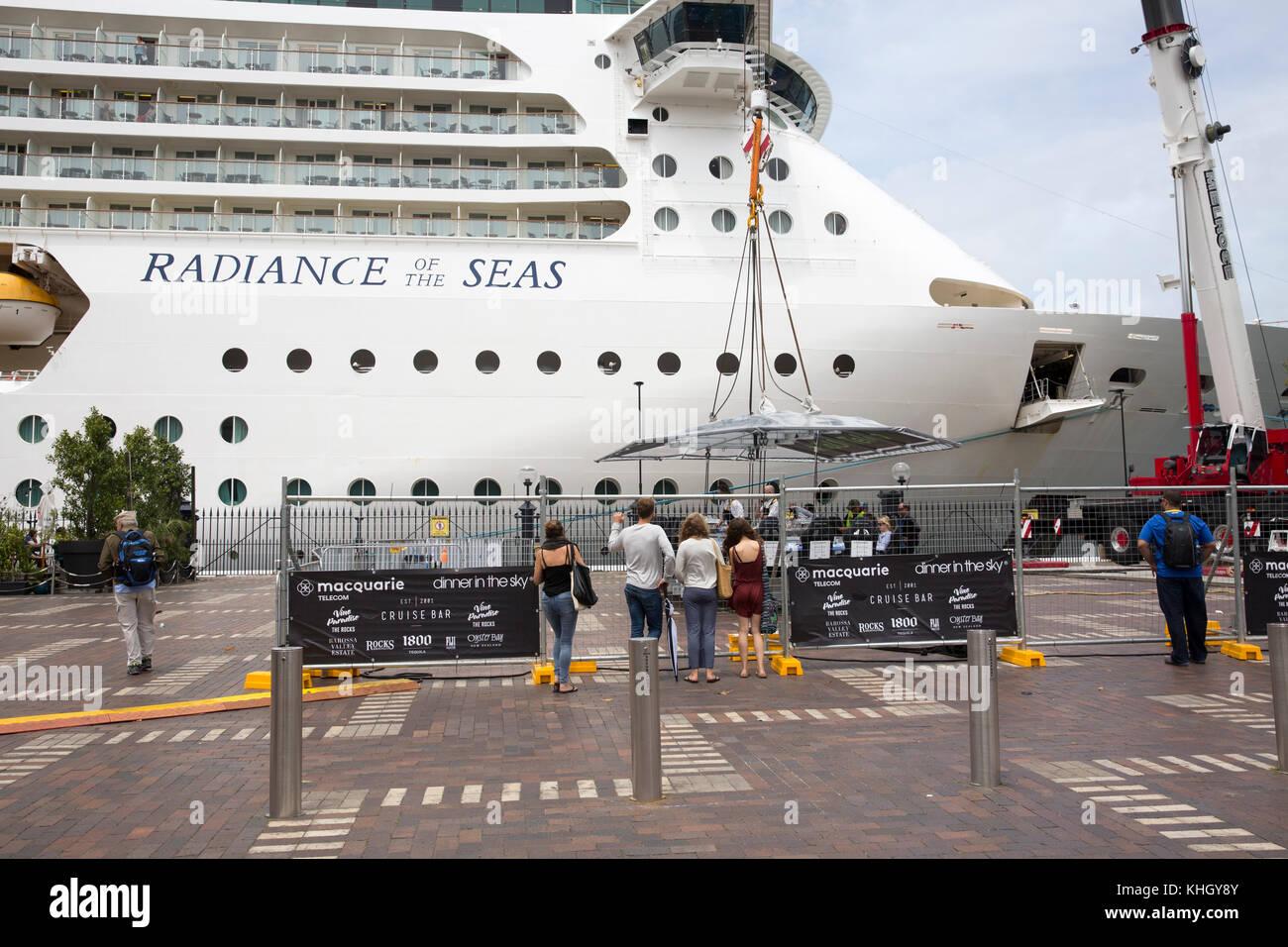 Sydney, Australia. 18th November, 2017. Radiance of the Seas cruise ship vessel moored at Sydney Overseas Passenger - Stock Image