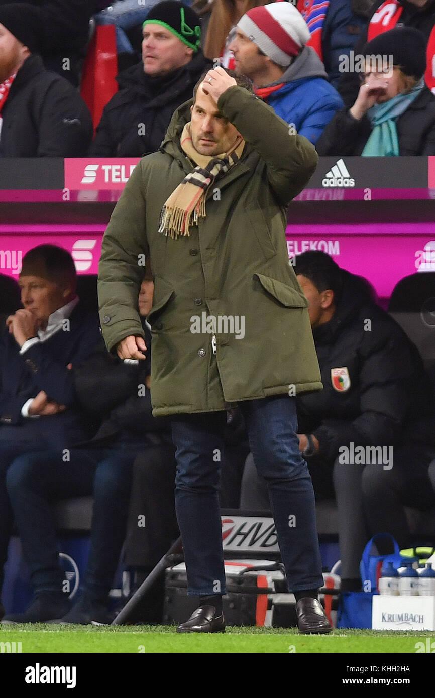 Manuel BAUM (Trainer FC Augsburg), Enttaeuschung, Frust, disappointed, frustratedriert, dejected, Einzelbild, Freisteller, - Stock Image