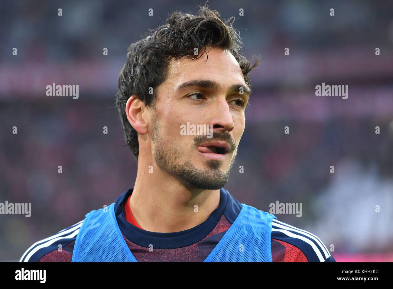 Mats HUMMELS (FC Bayern Munich), Aktion, Einzelbild, angeschnittenes Einzelmotiv, Portraet, Portrait, Portrat. Fussball - Stock Image