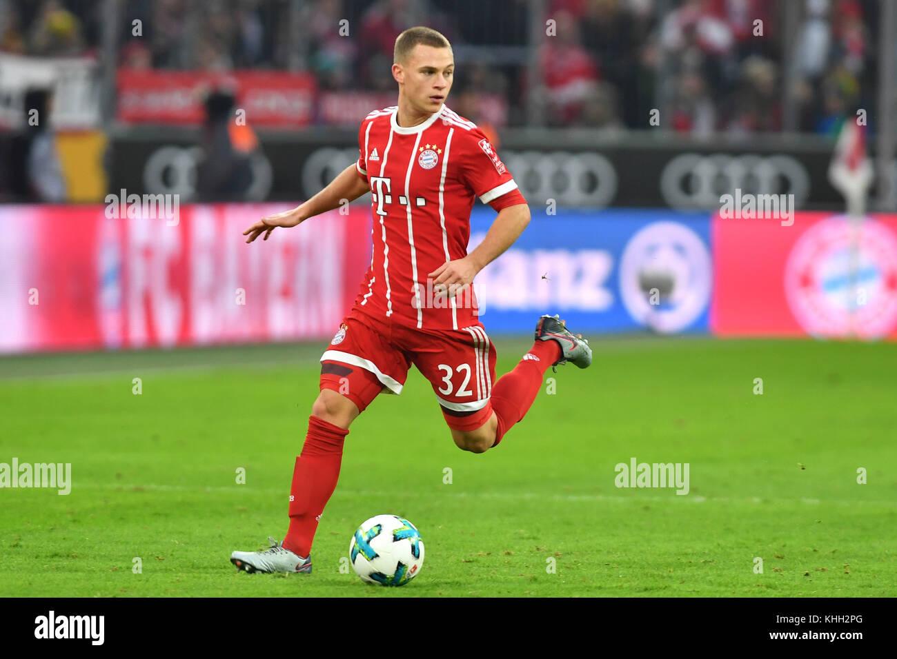 Joshua KIMMICH (FC Bayern Munich), Aktion, Einzelaktion, Einzelbild, Freisteller, Ganzkoerperaufnahme, ganze Figur. - Stock Image