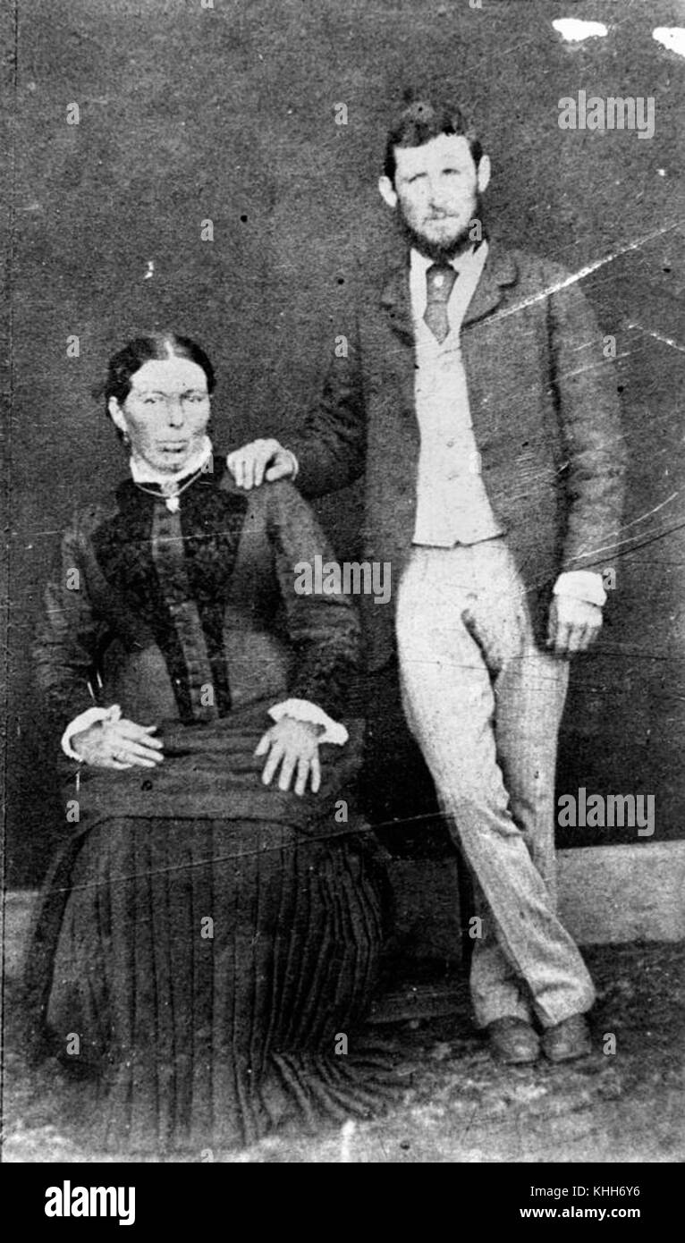 1 81827 W. J. Smith and his wife - Stock Image