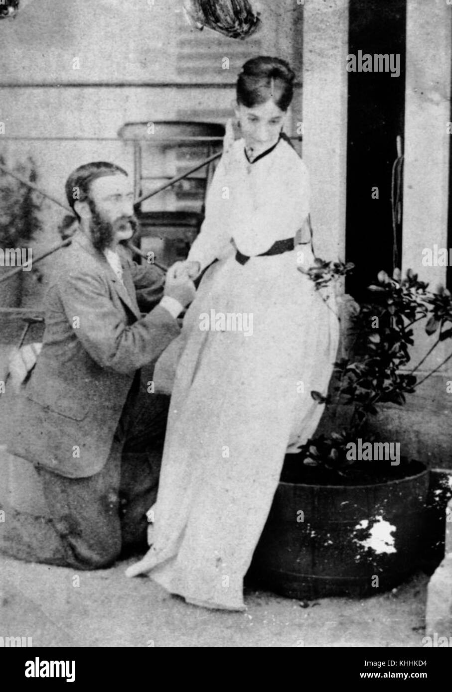 1 186167 Captain Walter and Mrs Creagh in 1868 - Stock Image