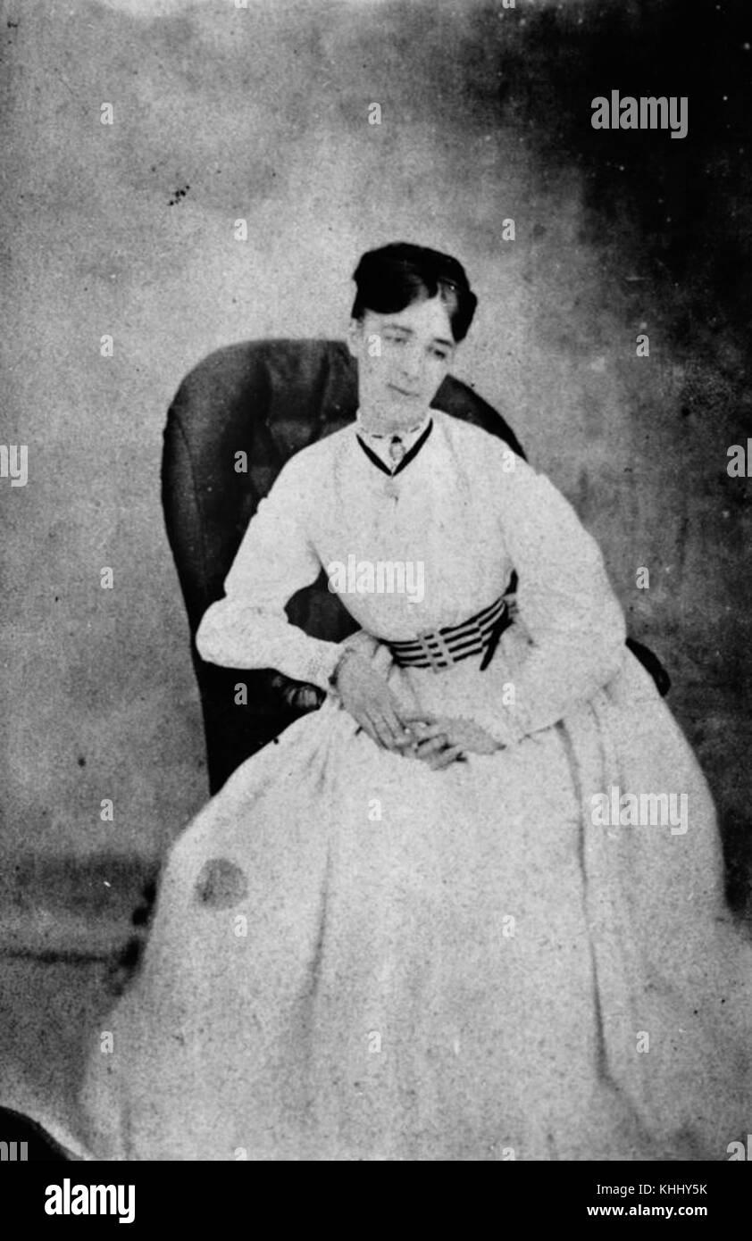 1 204344 Mrs Walter Creagh, December 1868 - Stock Image