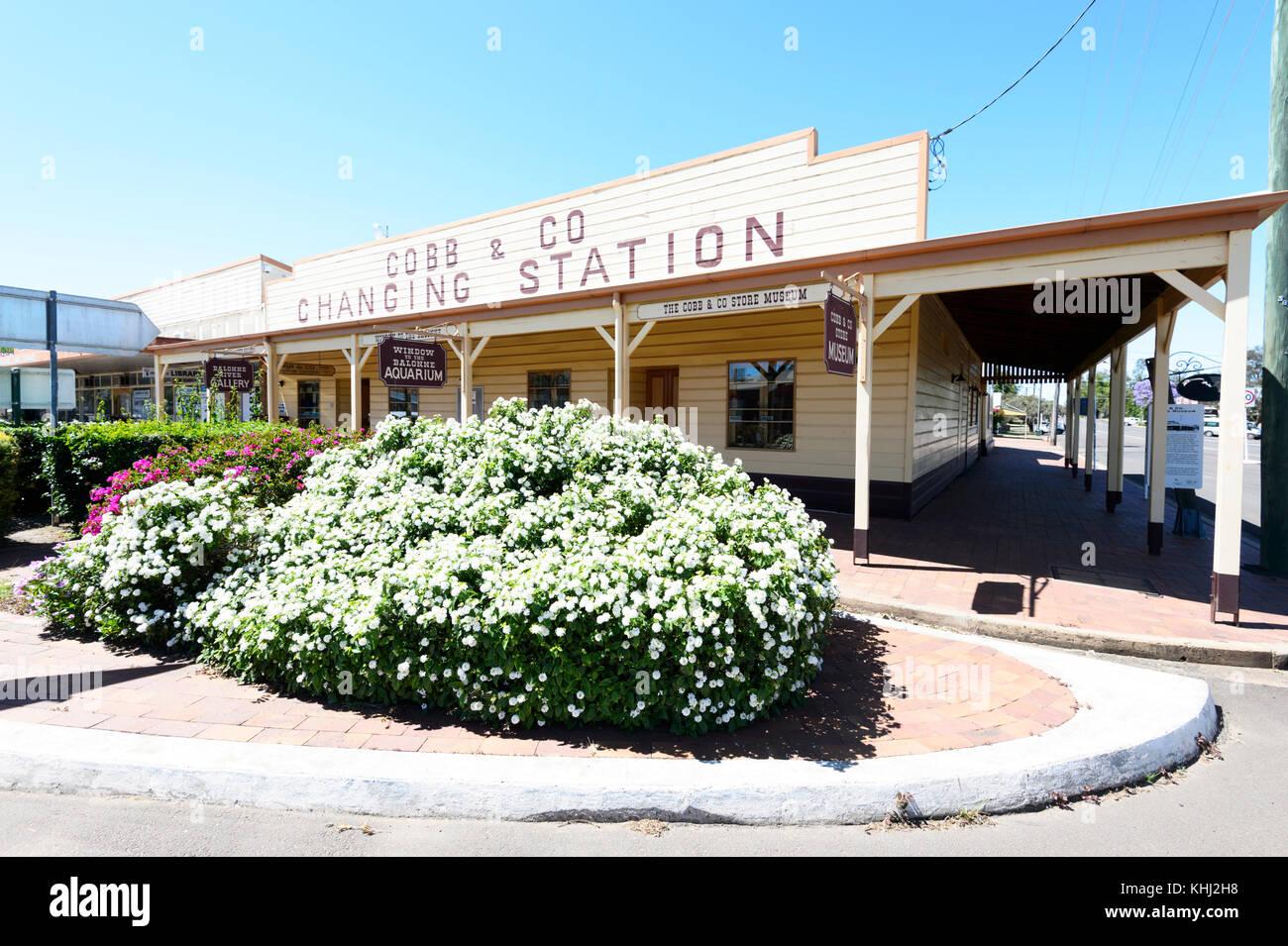 Historic Cobb & Co changing station Museum at Surat, Maranoa Region, Queensland, QLD, Australia - Stock Image