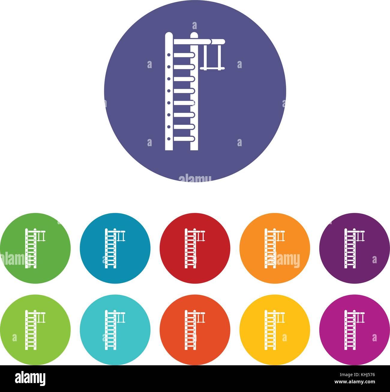 Swedish ladder set icons - Stock Image