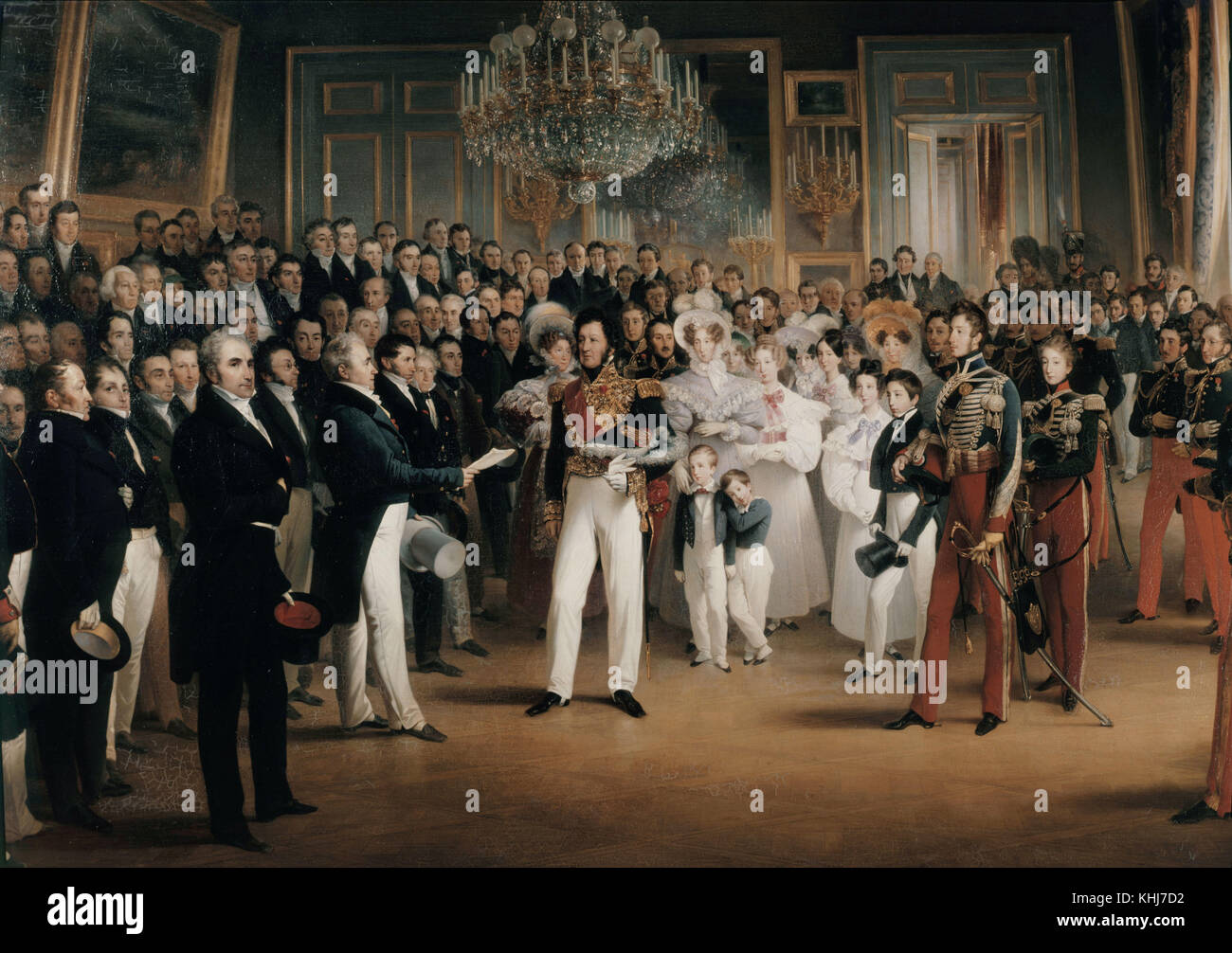 François-Joseph Heim   The Chamber of Deputies Assigns the Duke of Orléans to the Throne (August 7, 1830) - Stock Image