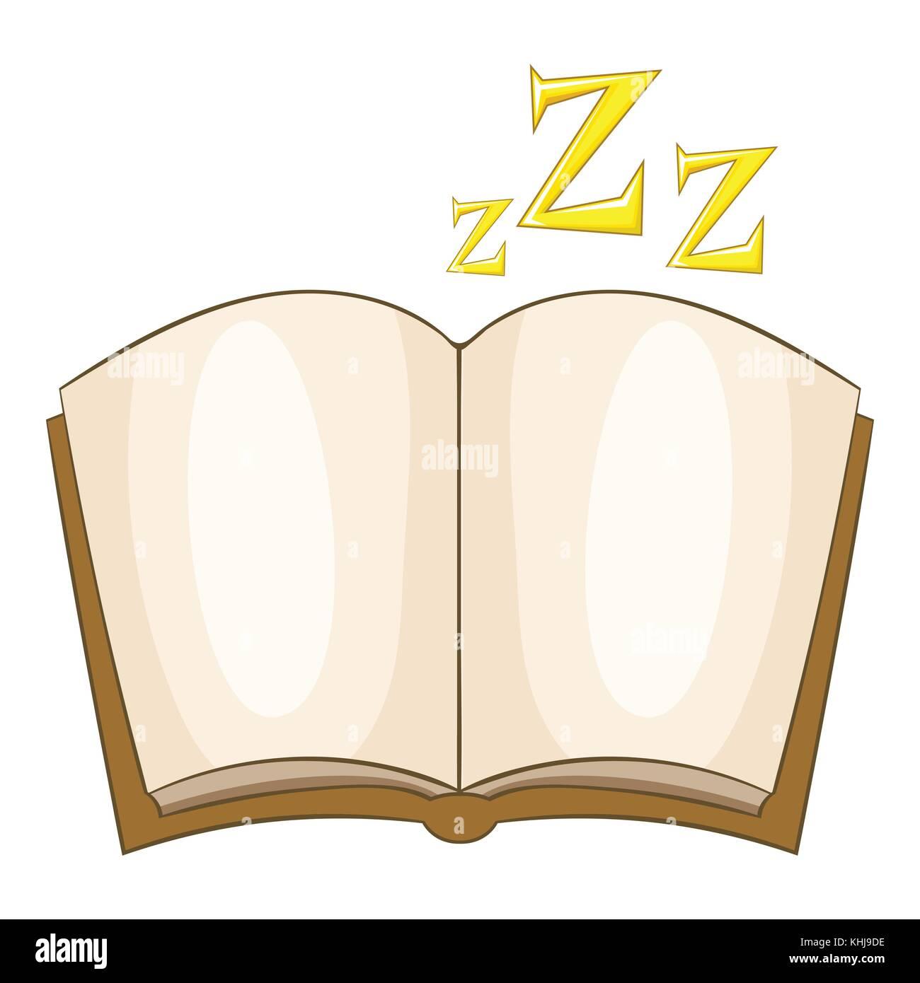 Bedtime story icon, cartoon style - Stock Image