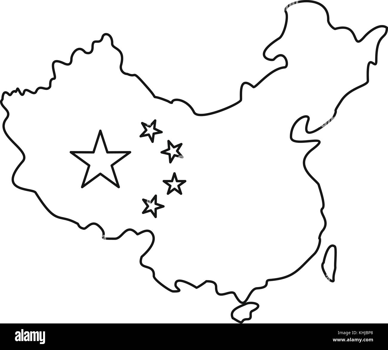 China Map Black and White Stock Photos & Images   Alamy