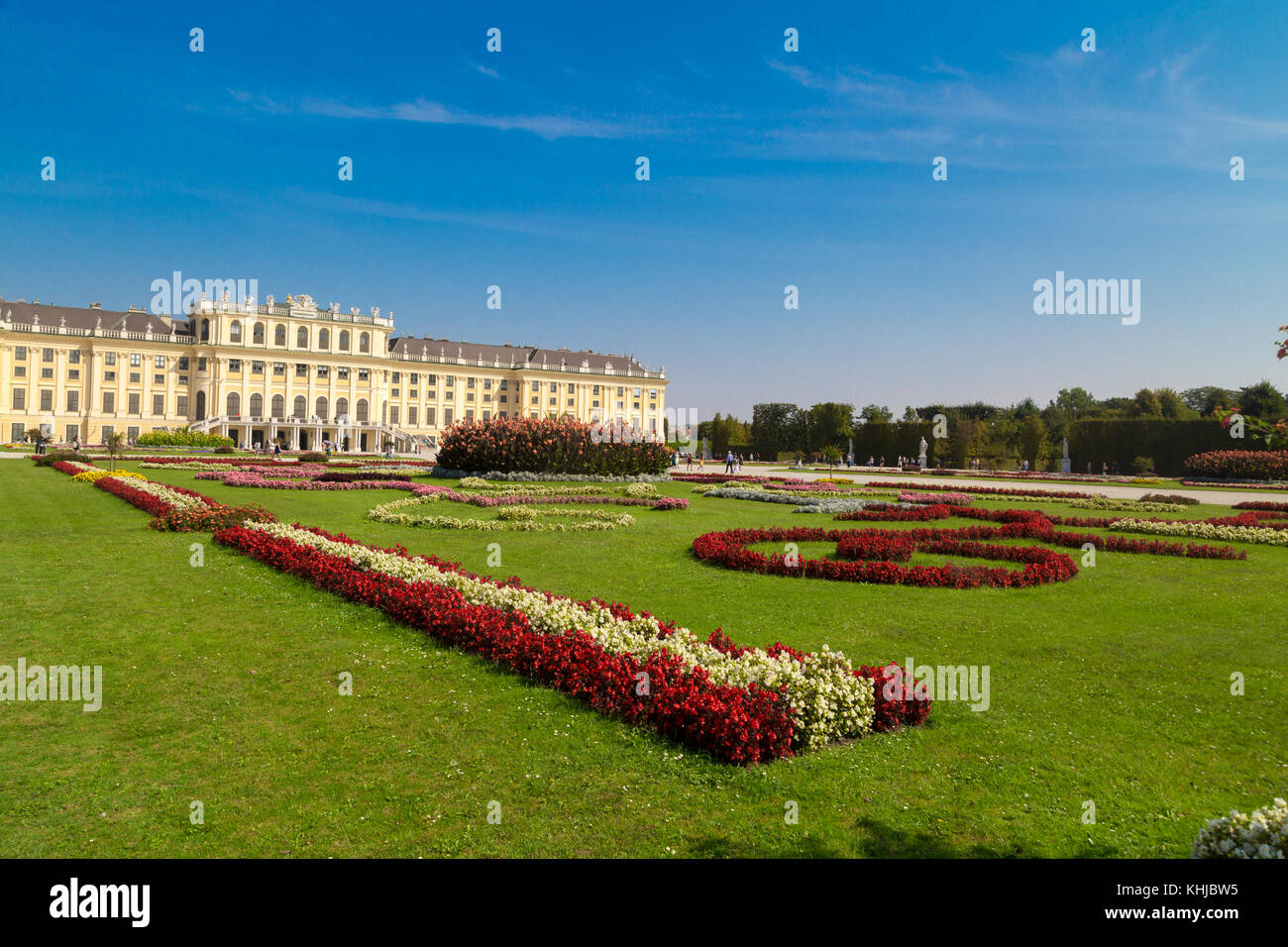 VIENNA, AUSTRIA - SEPTEMBER 11, 2016 : View of Schönbrunn Palace, one of best touristic attractions in Vienna - Stock Image