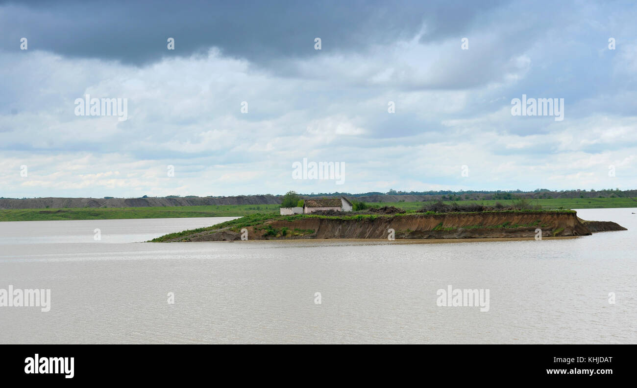 Consequences of catastrophic flood - Serbia, Balkan - Stock Image