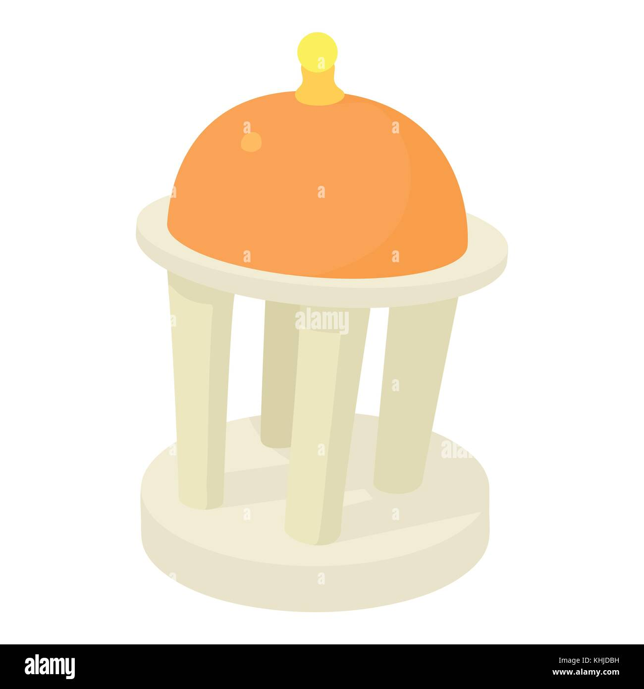 Rotunda icon, cartoon style - Stock Vector