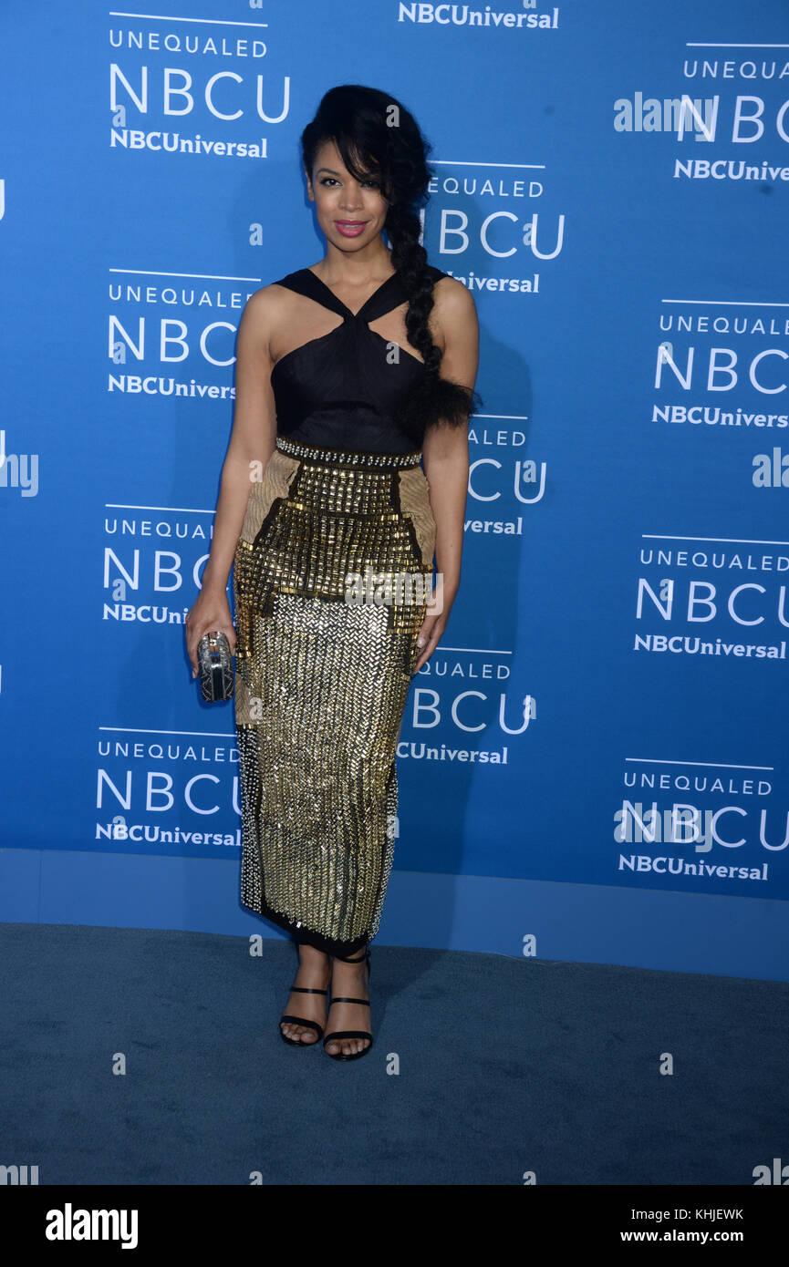 NEW YORK, NY - MAY 15: Susan Kelechi Watson attends the 2017 NBCUniversal Upfront at Radio City Music Hall on May Stock Photo