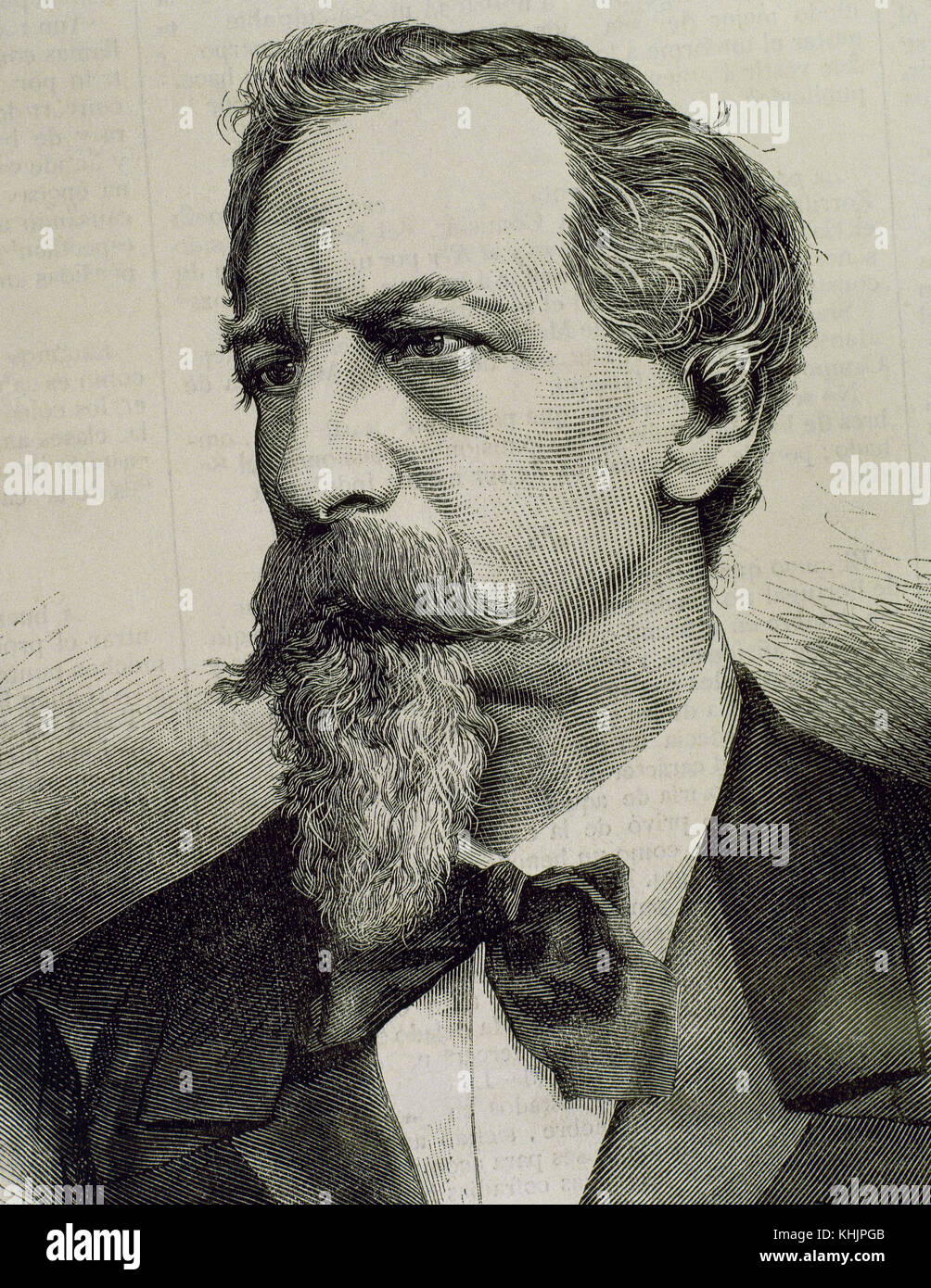 Ferdinand II of Portugal (1816-1885). German prince of the House of Saxe-Coburg and Gotha-Kohary, and King of Portugal - Stock Image