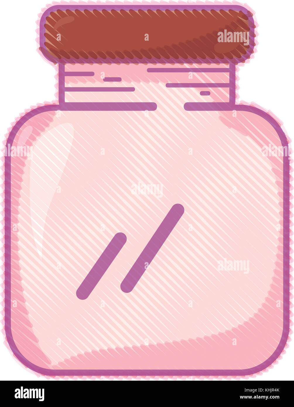 glass and crystal jar object to save - Stock Vector