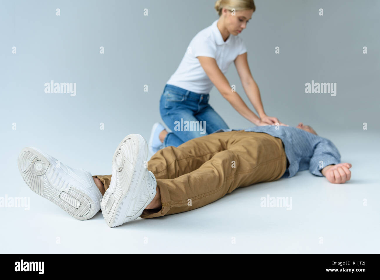 first aid training - Stock Image