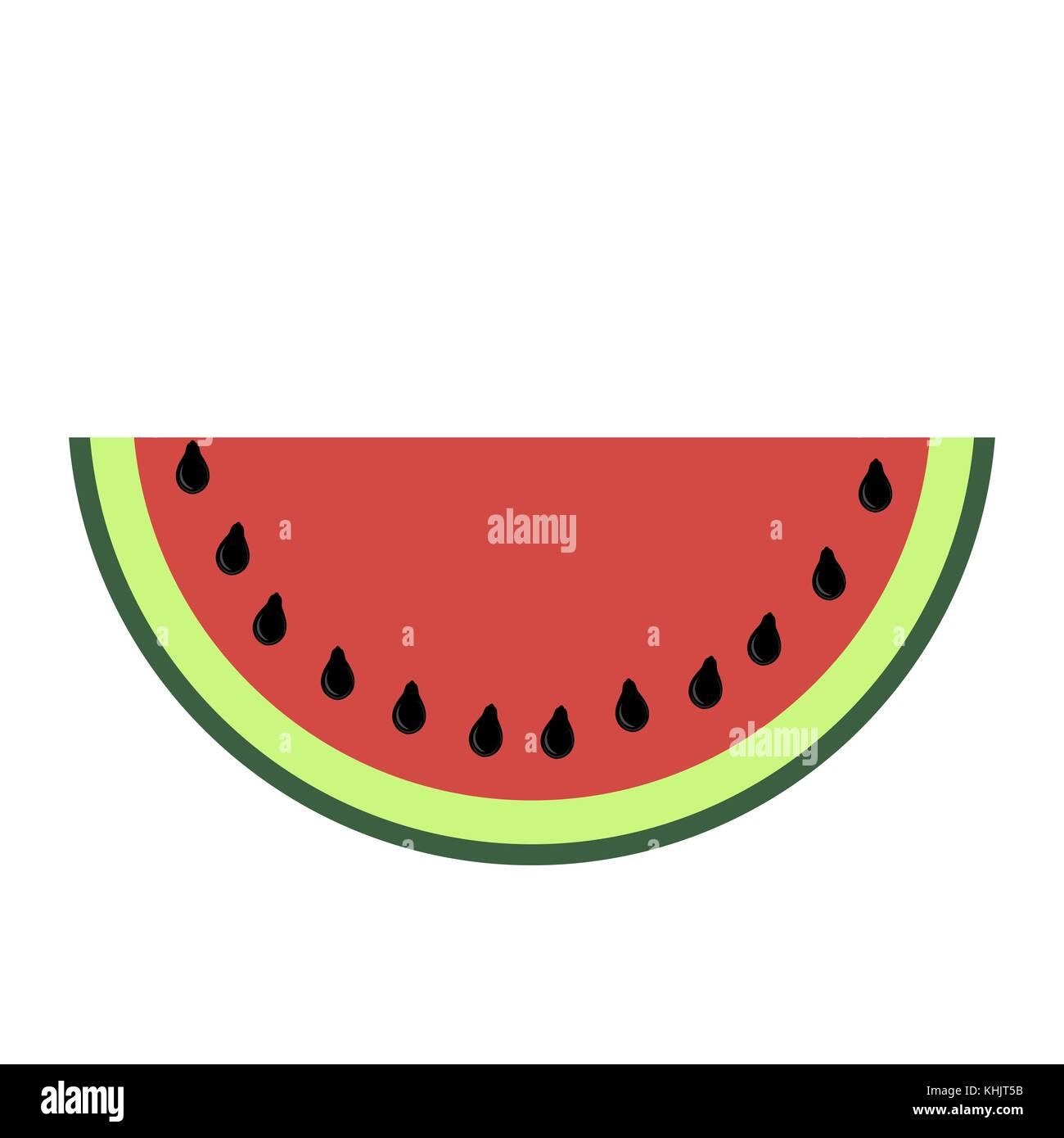 Fresh Slaced Ripe Watermelon on White Background - Stock Image