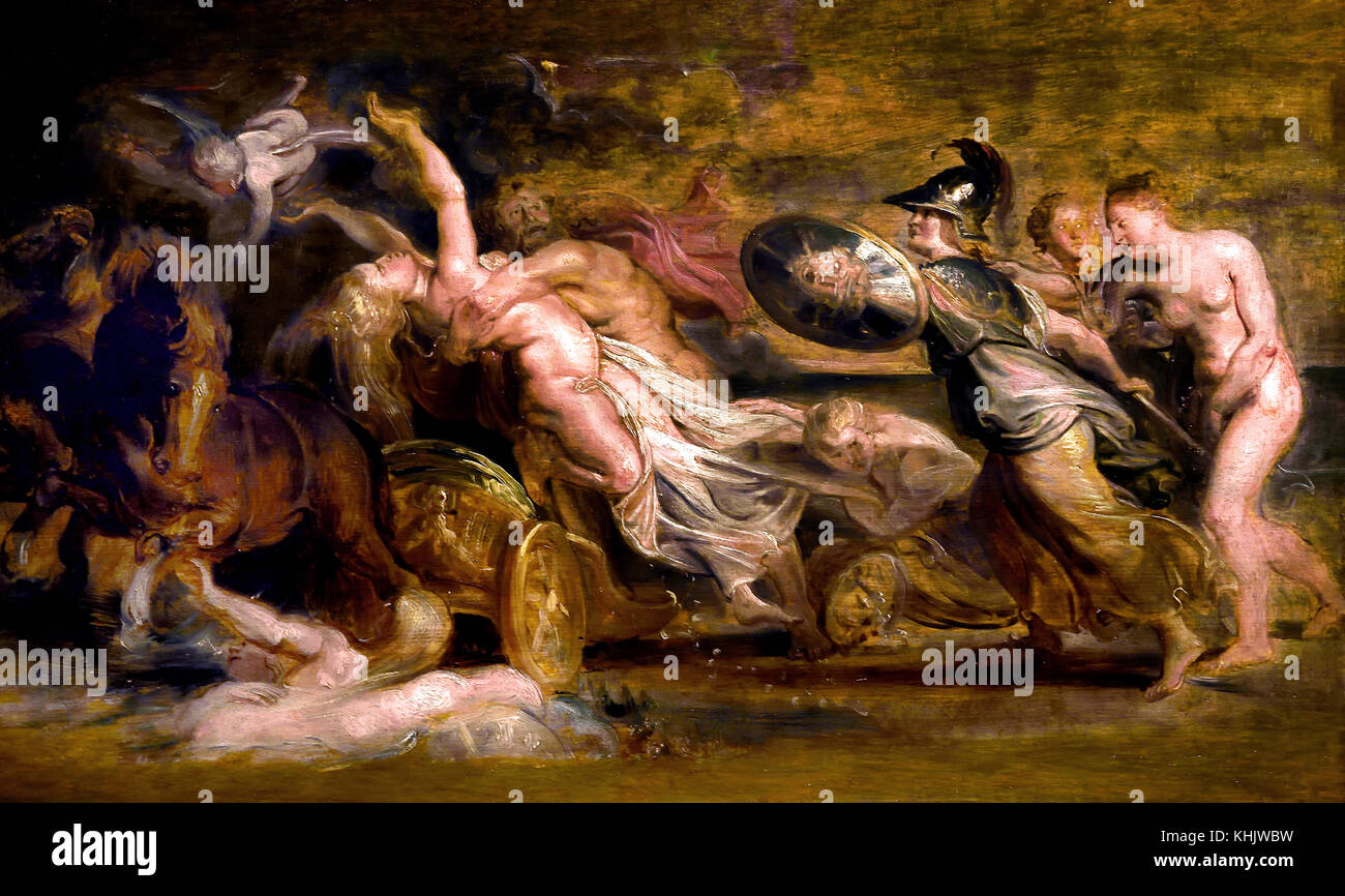 The Abduction of Proserpina 1614 Peter Paul Rubens (1577–1640) Painter in the Flemish Baroque tradition, Antwerp, - Stock Image