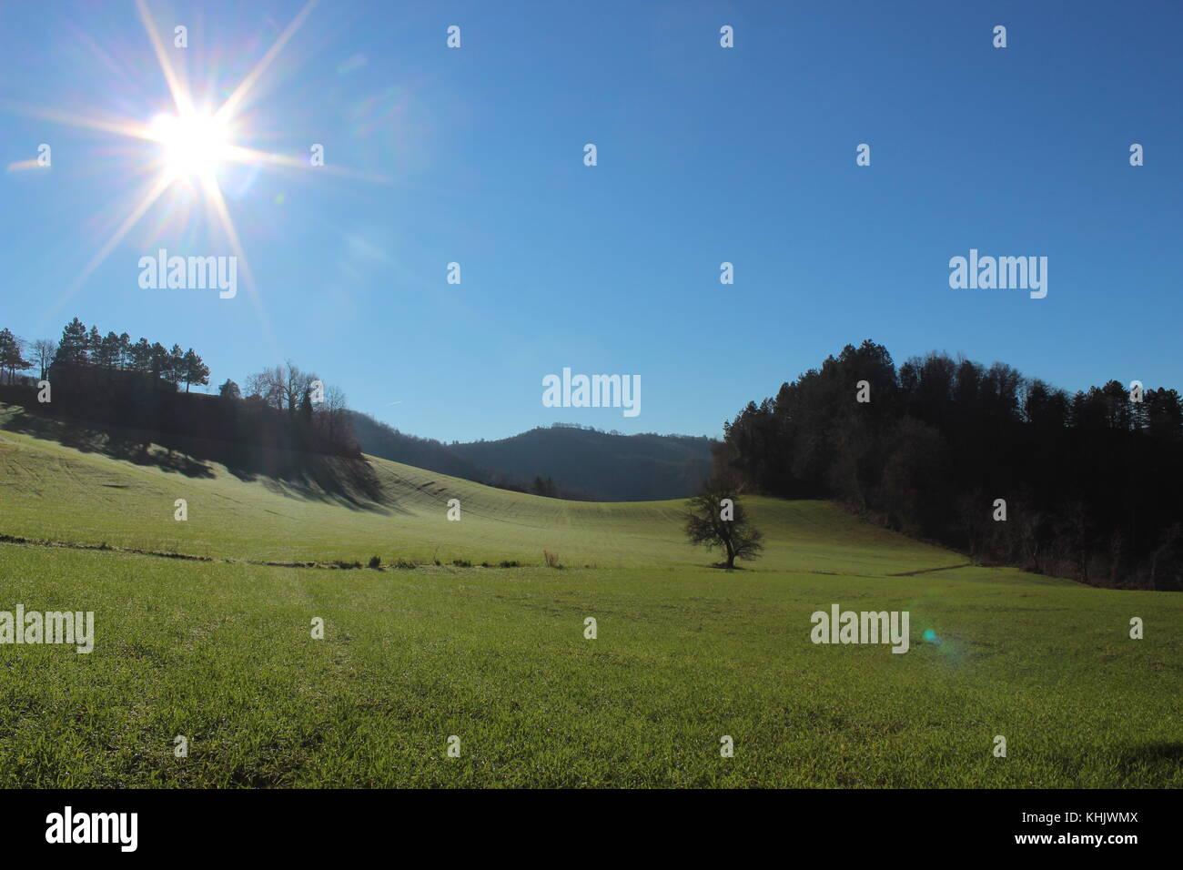 Landscape hill - Stock Image