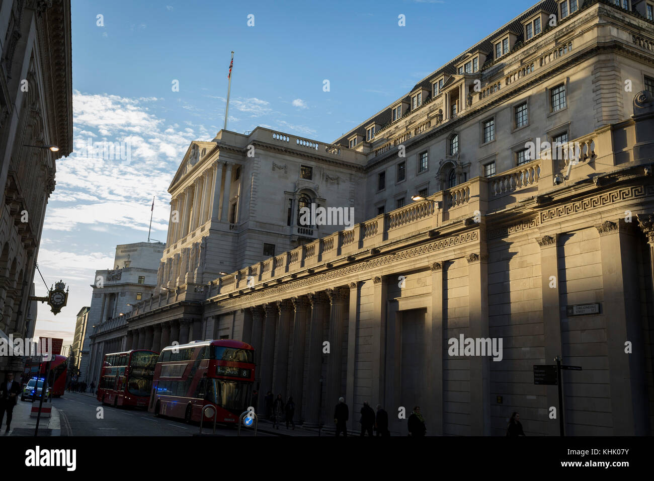 Exterior of the Bank of England on Threadneedle Street in the Square Mile, the capital's financial district, - Stock Image