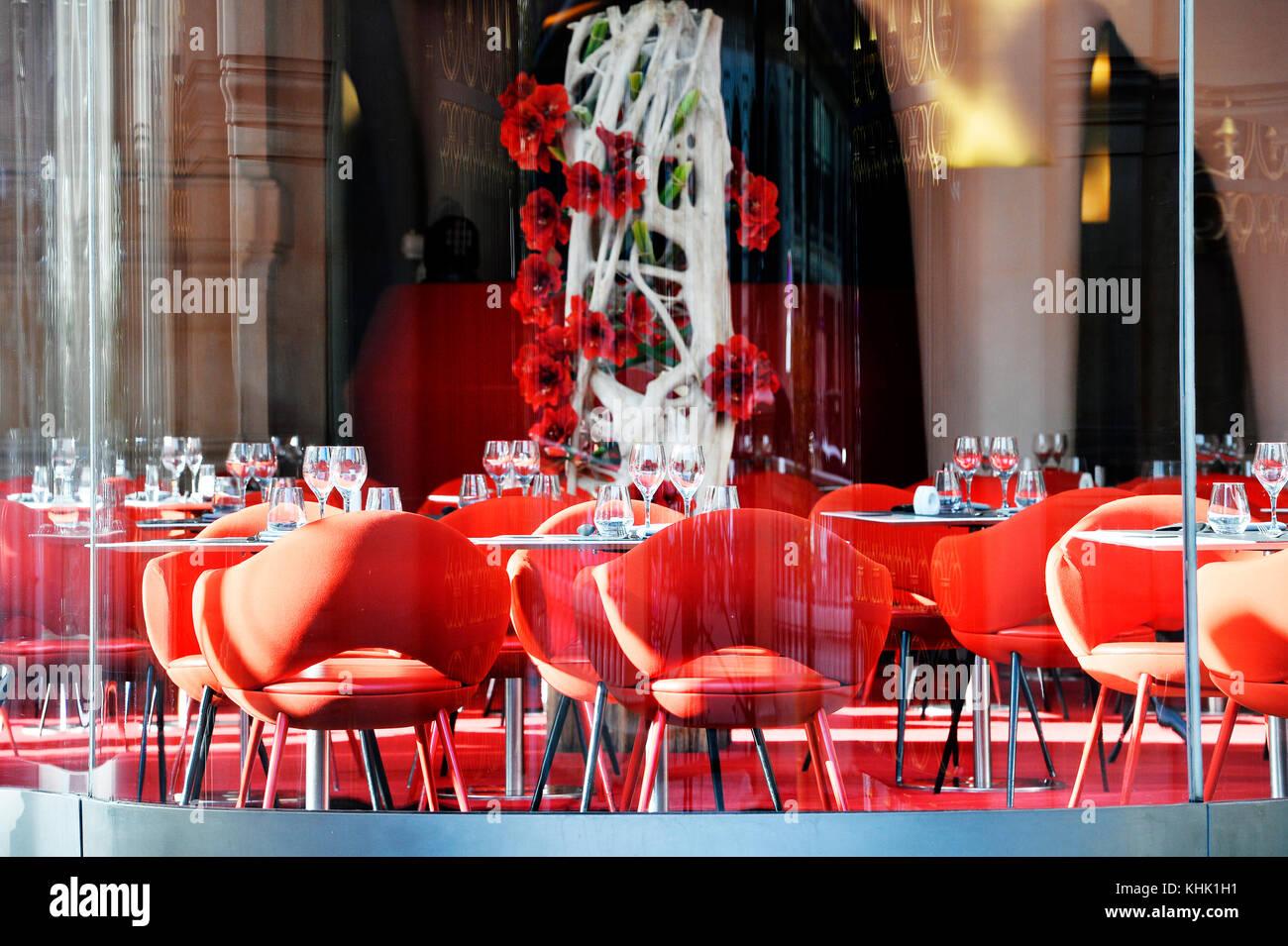 Restaurant Opéra, Palais Garnier, Paris, France - Stock Image