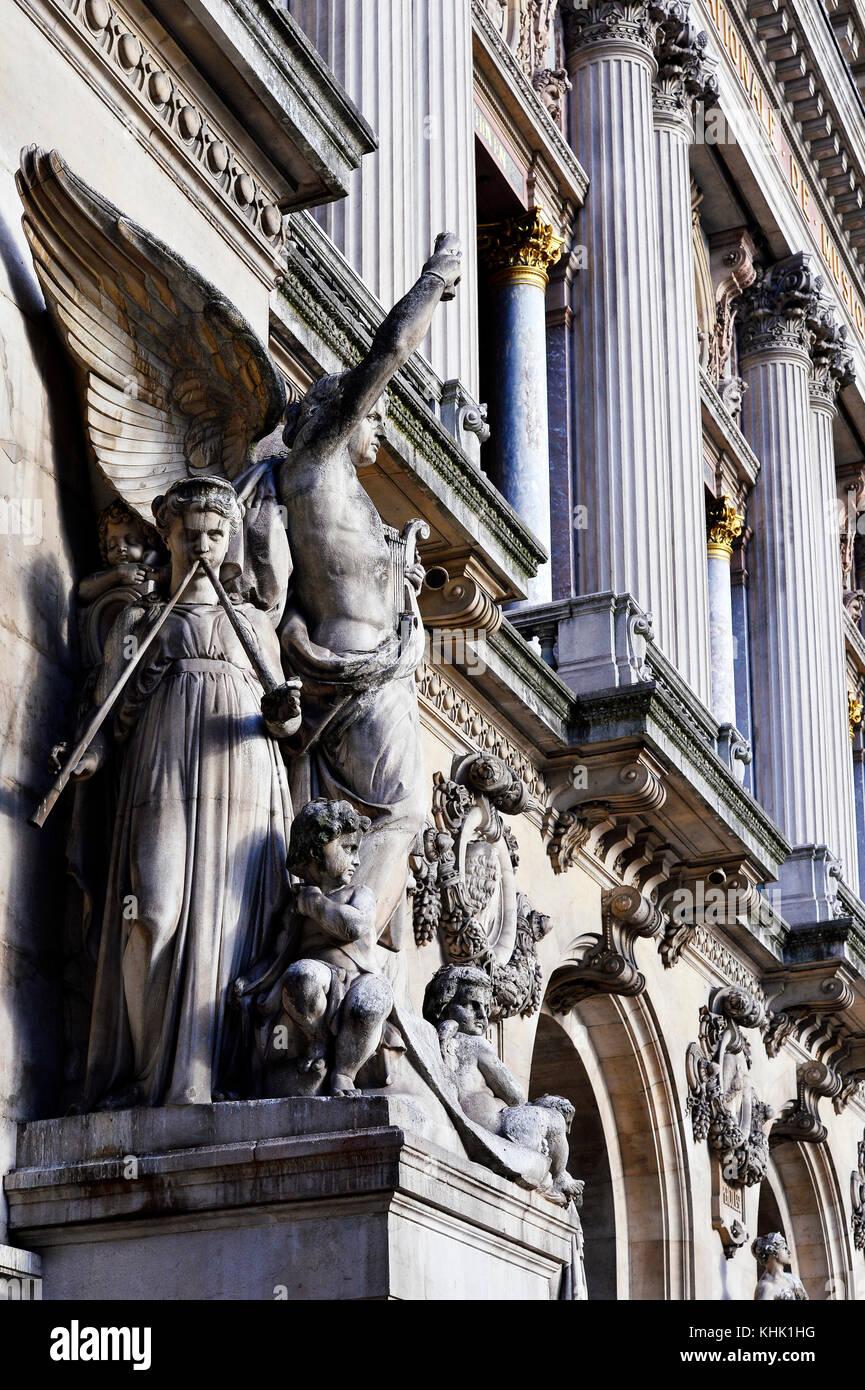 Palais Garnier - Opéra - Paris - France - Stock Image