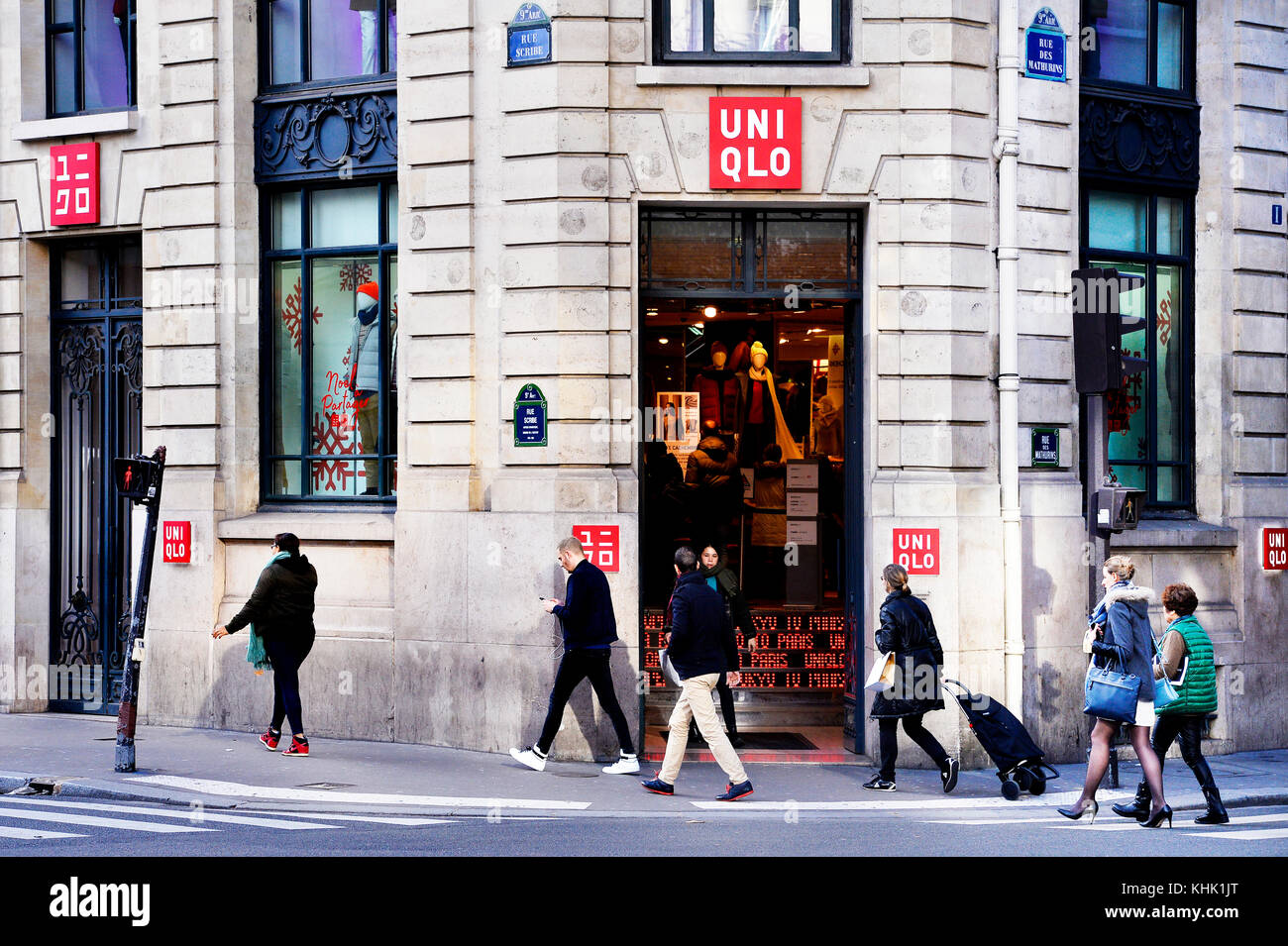 Uniqlo Flagship, Opéra - Paris- France Stock Photo - Alamy