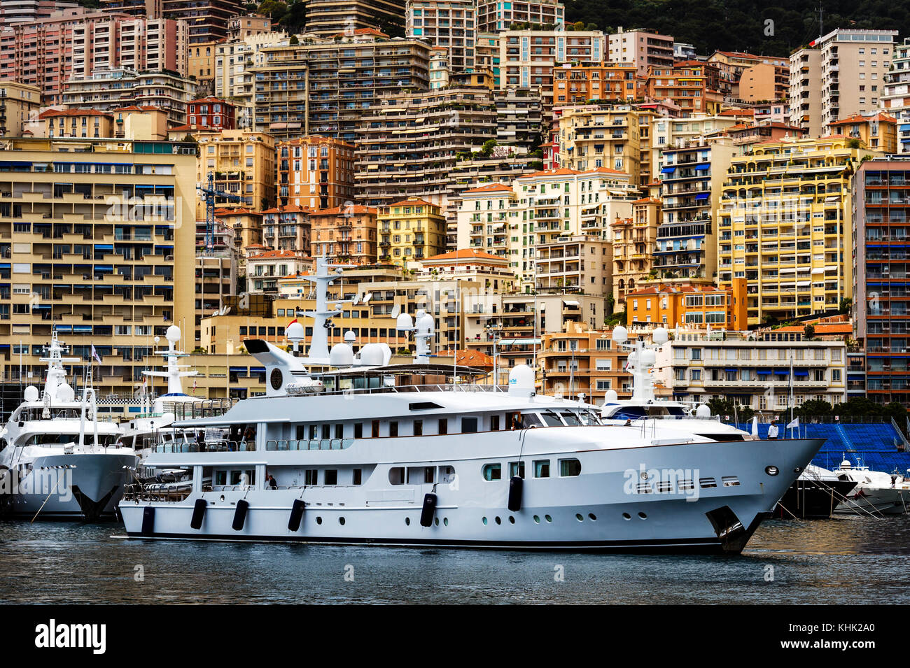 Europe. Principality of Monaco (98). Monte-Carlo. Cruise at Hercule port. - Stock Image
