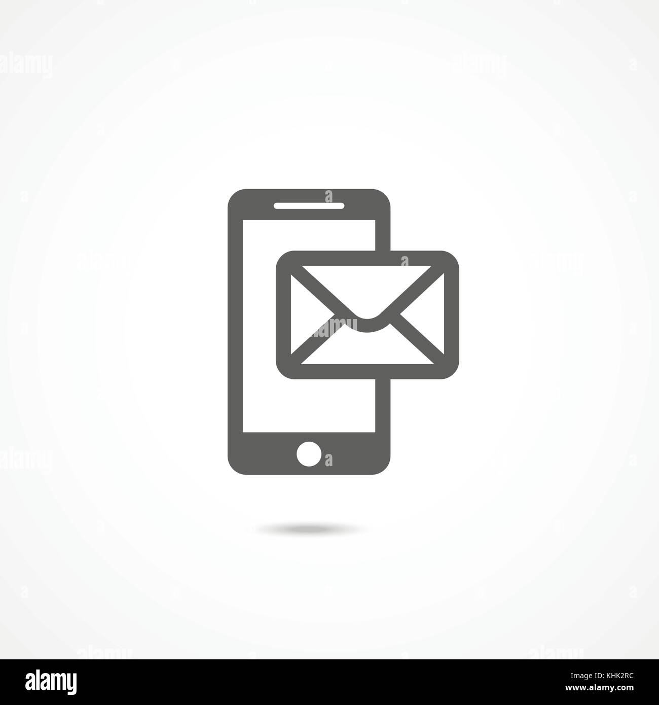 Mobile phone sms icon - Stock Image