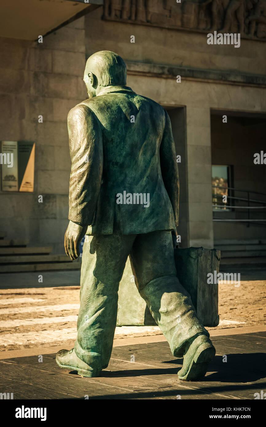 Statue in Vigo, Spain - Stock Image